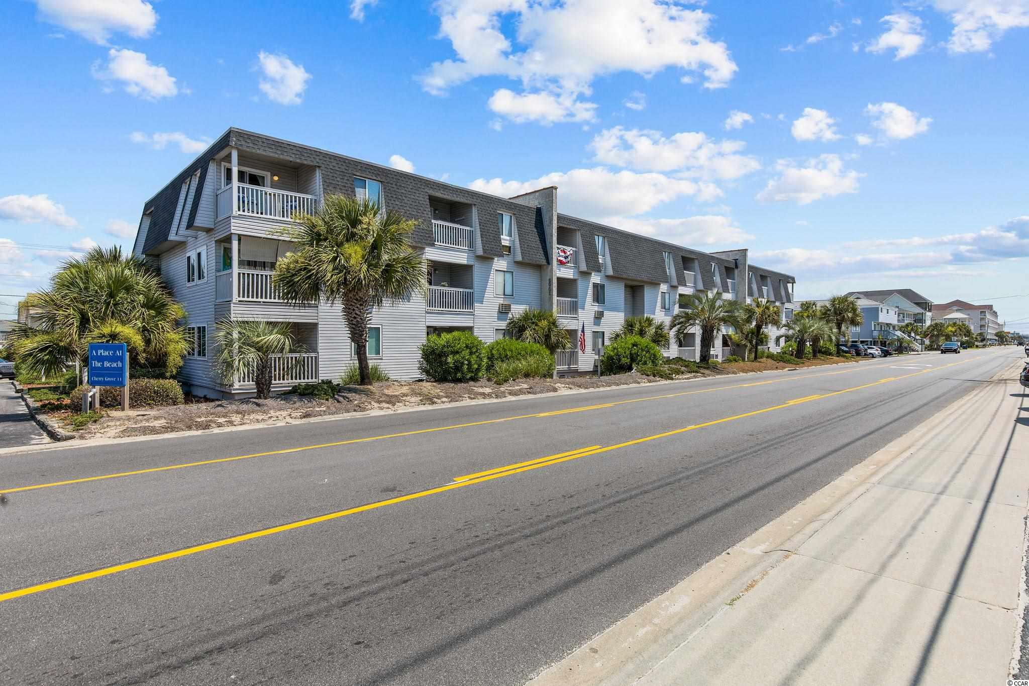 Rare two bedroom/two full bath unit in A Place at the Beach in charming Cherry Grove Beach.  This top floor unit comes completely furnished with nice colors and decor, lots of natural light, and features new waterproof/scratchproof vinyl plank flooring for ease of living here.  Your private balcony offers an amazing inlet/marsh view, with the ocean right across the street.  Pool onsite, laundry room onsite and lots of public beach access and parking available.  Only two blocks from the Cherry Grove Marina and Nature Preserve, and one mile from the Cherry Grove Pier.  Lots of good restaurants, shopping and entertainment close by.  Newer AC/Heat units, water heater and appliances.