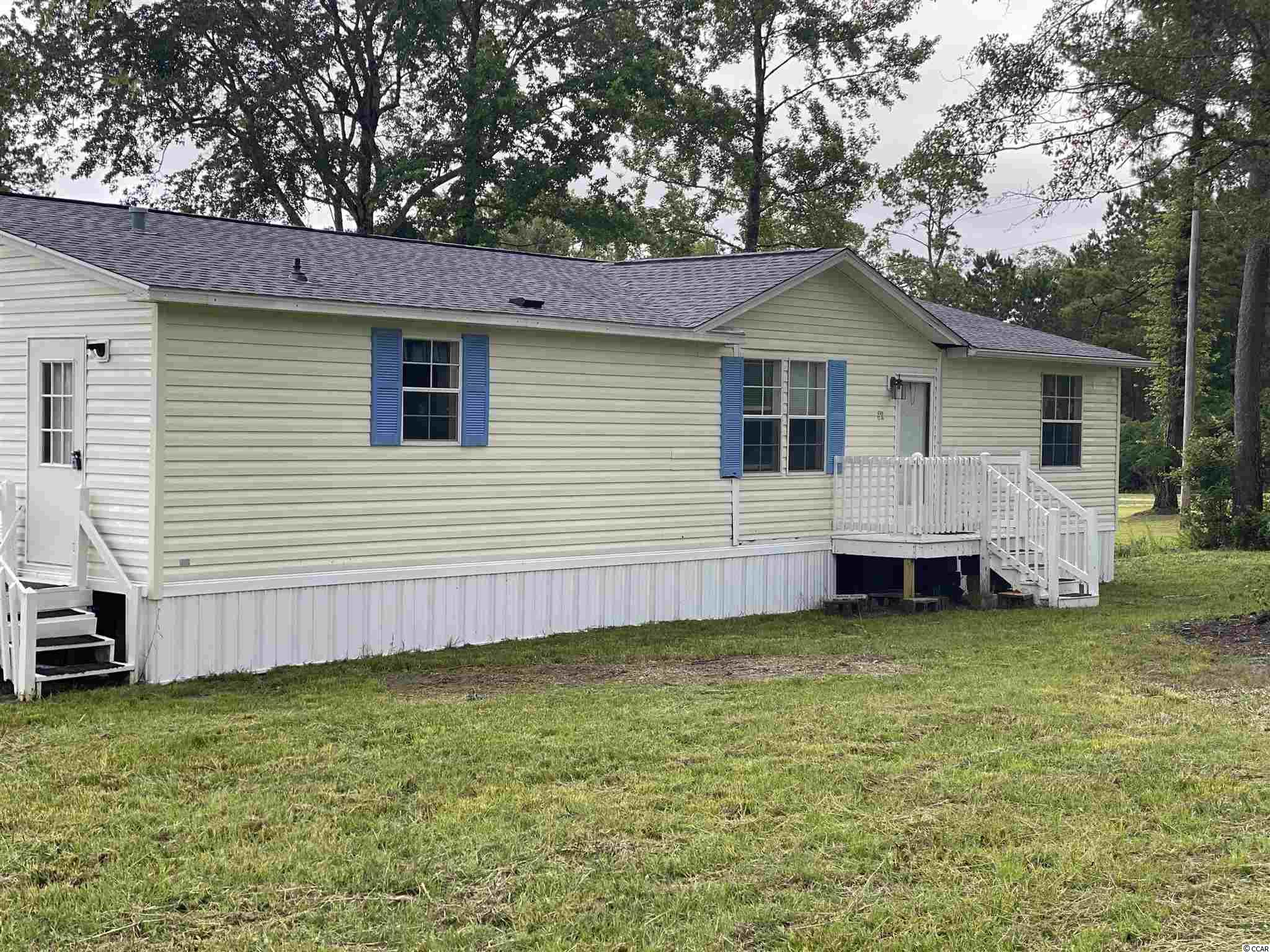 Welcome to this over sided double wide home on leased land in the tranquil lands of Conway. This 3br 2 full bath home sits beautifully on .33 acres. The home was recently moved to this location with all new plumbing, new HVAC lines, new flooring in the master bath and closet, added insulation, new duct work, new underpinning, and wood burning fireplace which has never been used before! A new 30 year roof was installed in 2019 and the HVAC system was bought in 2015. Schedule your showing today!