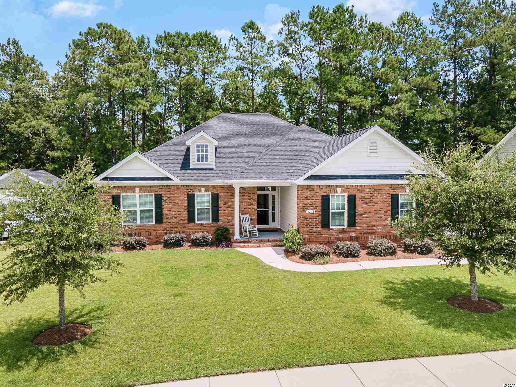 Tired of looking at cookie cutter homes? Here is a beautiful home in Conway built by a reputable custom home builder. This 4 bedroom home has a unique floor plan which offers plenty of storage and room for entertaining. Located in a beautiful area that is both quiet and quaint. The house opens up into a large living space with views of the private yard. The main bedroom offers 3 walk-in closets and 3 good sized guest rooms with split bedroom plan. Features: new American made Whirlpool appliances, chefs kitchen with plenty of cabinets and a large pantry, oversized garage with bead board wainscoting, large screened in porch and arched patio, aluminum fencing with brick columns, irrigation system for the front yard, extended driveway and walkway, great views with a perimeter lot, private back yard with the occasional wild life view, brick front and skirting, beaded vinyl siding, LVP flooring throughout most of the house, shiplap, chair rail and oversized molding.