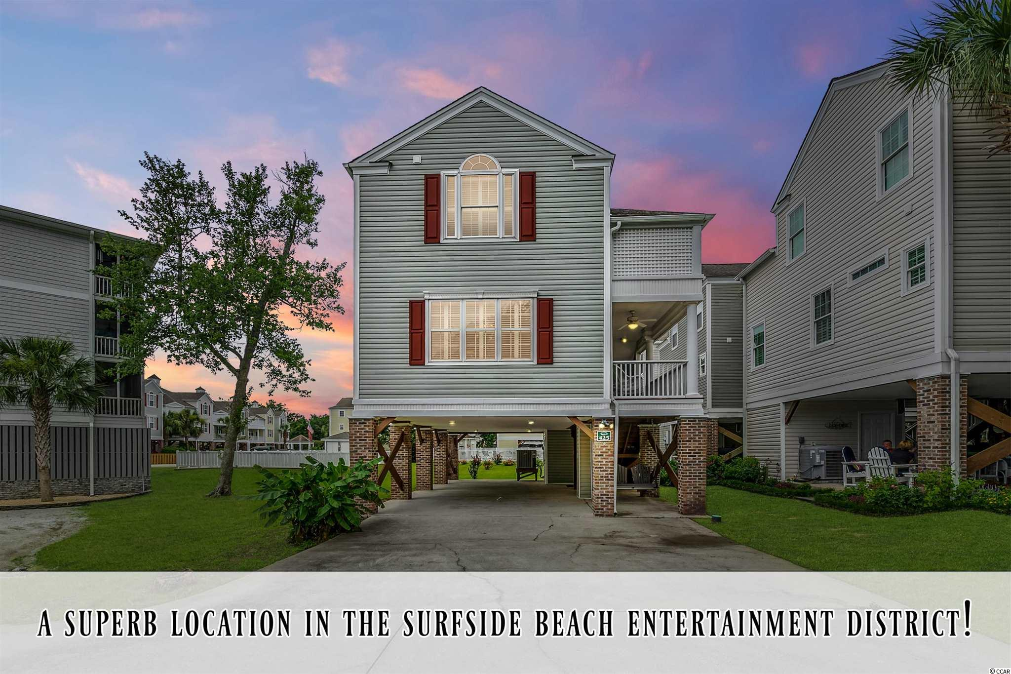 What a locationin the Surfside Beach entertainmentdistrict! Walking distanceto the beach, pier, many wonderful restaurants, park, and Surfside Beach event venue. This beautiful 4 bedroom home reallydoes offer active Coastal beach living at it's finest!!! The enchanting Ocean Oaks community also offers a wonderful community pool to its limited number of residents residents. 425 Surfside Drive offers a large driveway, locked storage under the carport big enough for your golf cart, open concept living & kitchen, 4 oversized bedrooms, and high ceiling heights throughout most of the home. *Short term rentals are not allowed in Ocean Oaks*. Please be sure to check out the Immoviewer® 3D tour for a detailed look at the floor plan and layout.