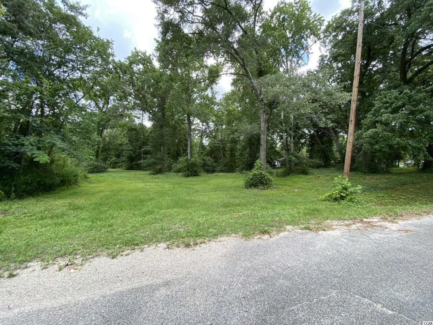 Beautiful 0.8 acre corner lot- Several mature live oaks- only a short walk to Downtown Conway.