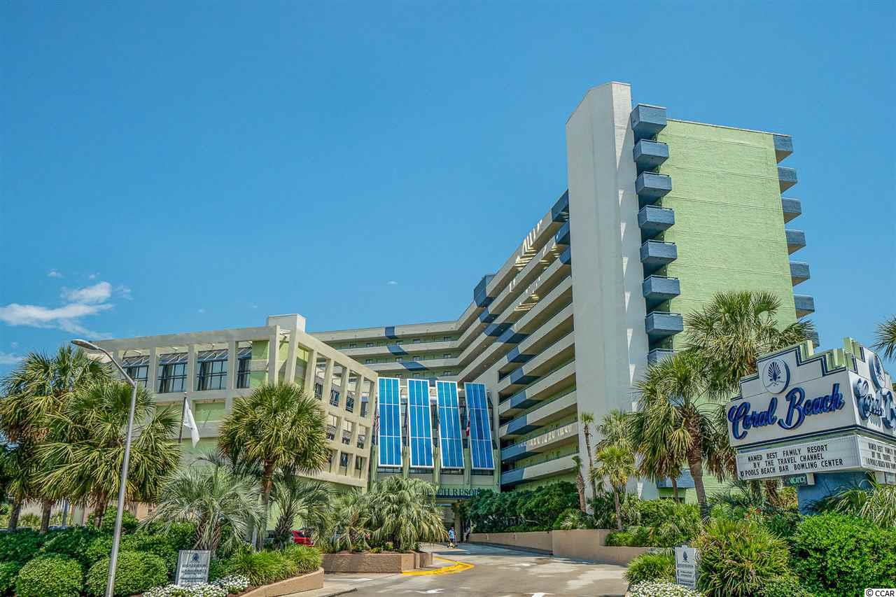 Located in Coral Beach, this Oceanfront - 1 bed, 1 bath unit comes fully furnished with great views of the beautiful Atlantic.  This beautiful unit offers 2 queen beds, a murphy bed, a private balcony and a fully equipped kitchen.  Amenities of the resort include indoor & outdoor pools, a lazy river, jacuzzis, a children's waterpark & kiddie, bowling, arcade games, air hockey, onsite restaurants, bars and a variety of so much more!  Conveniently located to the Grand Strands best attractions, shopping, dining & entertainment, the airport, golf courses - Hurry and schedule your showing today!