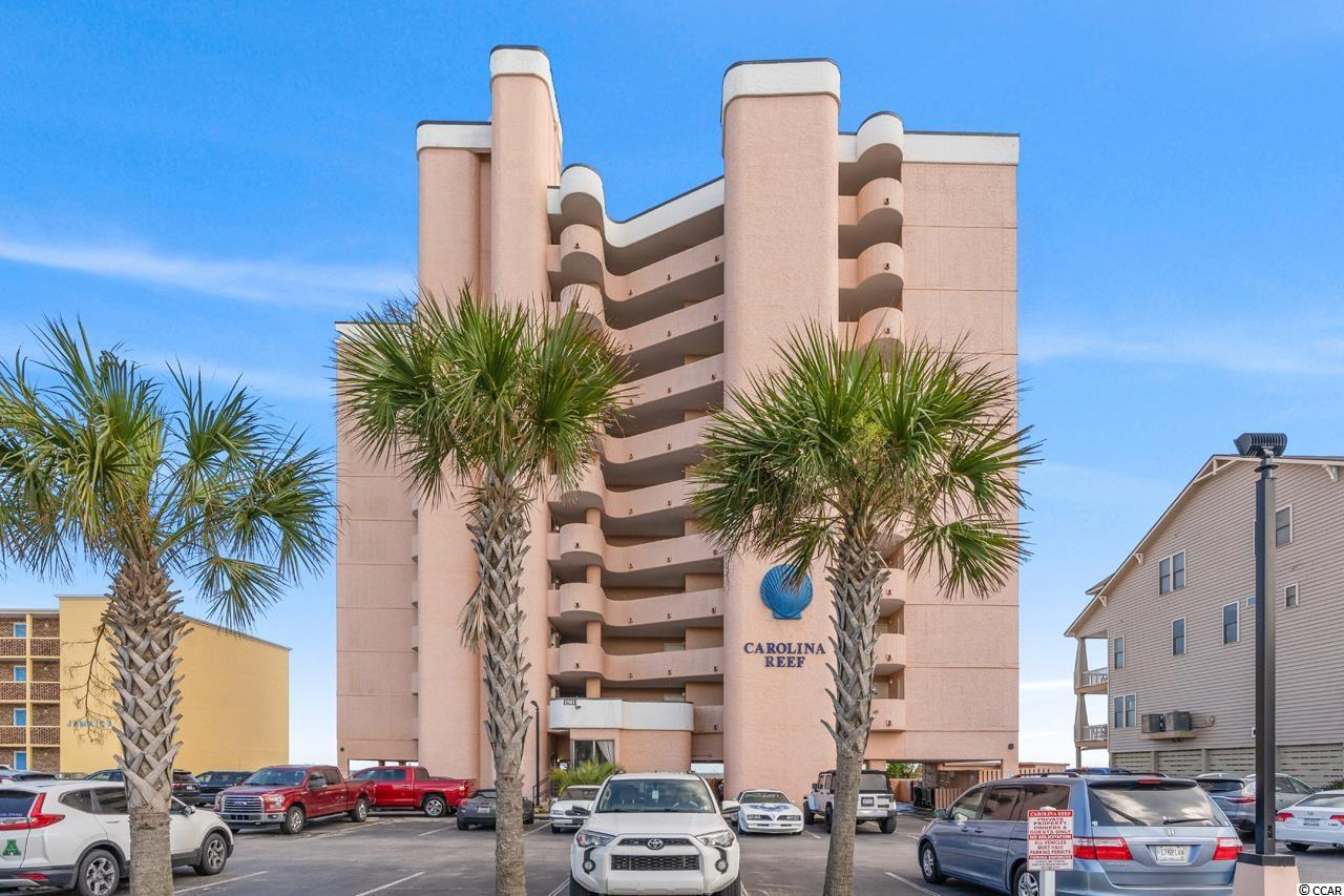 Beautiful direct oceanfront 1 BR / 1 BA unit in Carolina Reef located in the Crescent Beach area of North Myrtle Beach. Furnished property is in fantastic condition only being used by family sparingly. New HVAC and Water Heater both installed in 2021. Located on the 3rd floor this unit has an expansive direct ocean view while maintaining privacy. Unit is also conveniently located close to elevator and stairs making trips back and forth to beach, pool and car easy. Carolina Reef is a perfect complex to live full time, part time or use as a vacation rental. Carolina Reef is a concrete & steel building. On-site Amenities include outdoor pool, hot tub and kiddie pool.