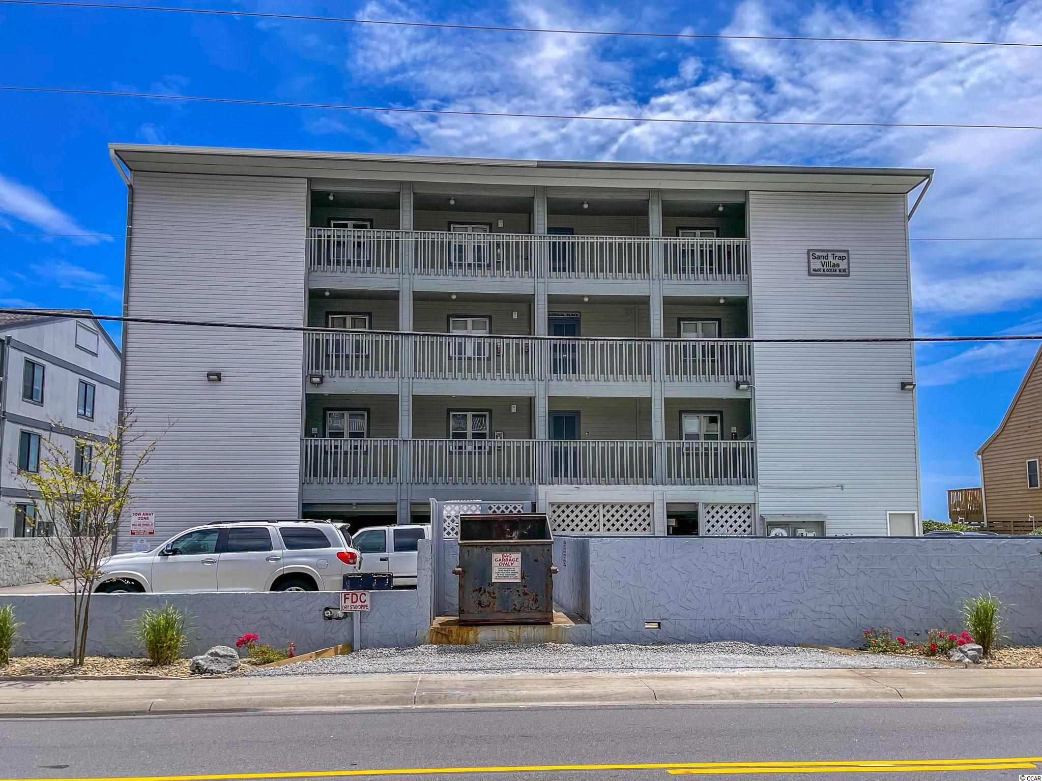 Welcome to Sandtrap Villas. This move-in ready fully furnished and elegantly decorated unit comes with three bedrooms and two baths to host parties up to 8 guests.  Located in the prestigious Cherry Grove section of North Myrtle Beach, where you will find Unit B-2 to be only one of 9 very spacious units directly facing the ocean.  Numerous upgrades include Ceramic flooring throughout the unit with laminate flooring in all bedrooms, four flatscreen TVs, blackout drapes, state-of-the-art Xbox gaming system, including games, new balcony railing 2021, new refrigerator and dishwasher 2020, HVAC system 2020, granite countertops and cabinets 2018, new water heater 2018, balcony carpet 2018. Enjoy miles of oceanic views from your large 24 ft x 14 ft private balcony.  Amenities include an outdoor pool & outdoor shower.  There are plenty of local activities to enjoy, catamaran sailing, deep-sea fishing, golf, dining, shopping, and entertainment.  Whether an investment or your vacation get-away, this is a must-see.  Book your showing today!