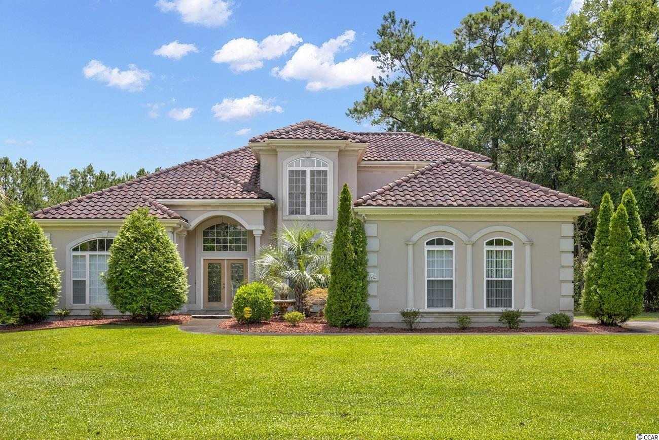 Get ready to enjoy the Salt Life! Welcome to one of the most desirable neighborhoods in the Grand Strand area , Big Landing Plantation. tucked between the Intercoastal Waterway and the NC/SC border this tranquil upscale community boasts big time amenities and accessibility in a cozy 75 home neighborhood...Featuring HOA offerings such as a large clubhouse with full kitchen , community pool, private pier with day docks and private ICW beach access paired with 100 year old oak trees, breathtaking waterway views and marshland teeming with wildlife just outside your back door. The cherry on top? Vereen Memorial Gardens lies immediately to the south adding miles of boardwalk trails ,planned activities and events ,and designated playground areas for the kiddos all at no cost. Nestled on a quiet cul de sac in a secluded corner of this fantastic locale awaits your dream home...Classic Mediterranean styling invites you to enter , passing through arching doorways and a vaulted  vestibule , the 10 foot ceilings and expansive rooms create an airy relaxing vibe that continues out to the massive screen porch featuring a stone floor and one of the best views of the marshlands AND the ICW available in the development. The first floor offers a kitchen with granite throughout ,including a large central island with prep sink ,a formal dining room, large private office space and master bedroom with en-suite that includes walk in shower and whirlpool tub. The second floor provides three more bedrooms and full bathroom, linen cupboard  and large closets for ample storage. Perhaps the best feature of this home is the lot itself ;the classic stucco and terra cotta exterior is complimented perfectly by the sawgrass and palmetto and with marsh views on two sides and an evergreen treeline defining the remaining boundry , privacy is nearly complete. Finally for the boat lovers , ask about the deeded 30 foot slip in nearby Mariners Pointe marina and access to the clubhouse and amenities there, a