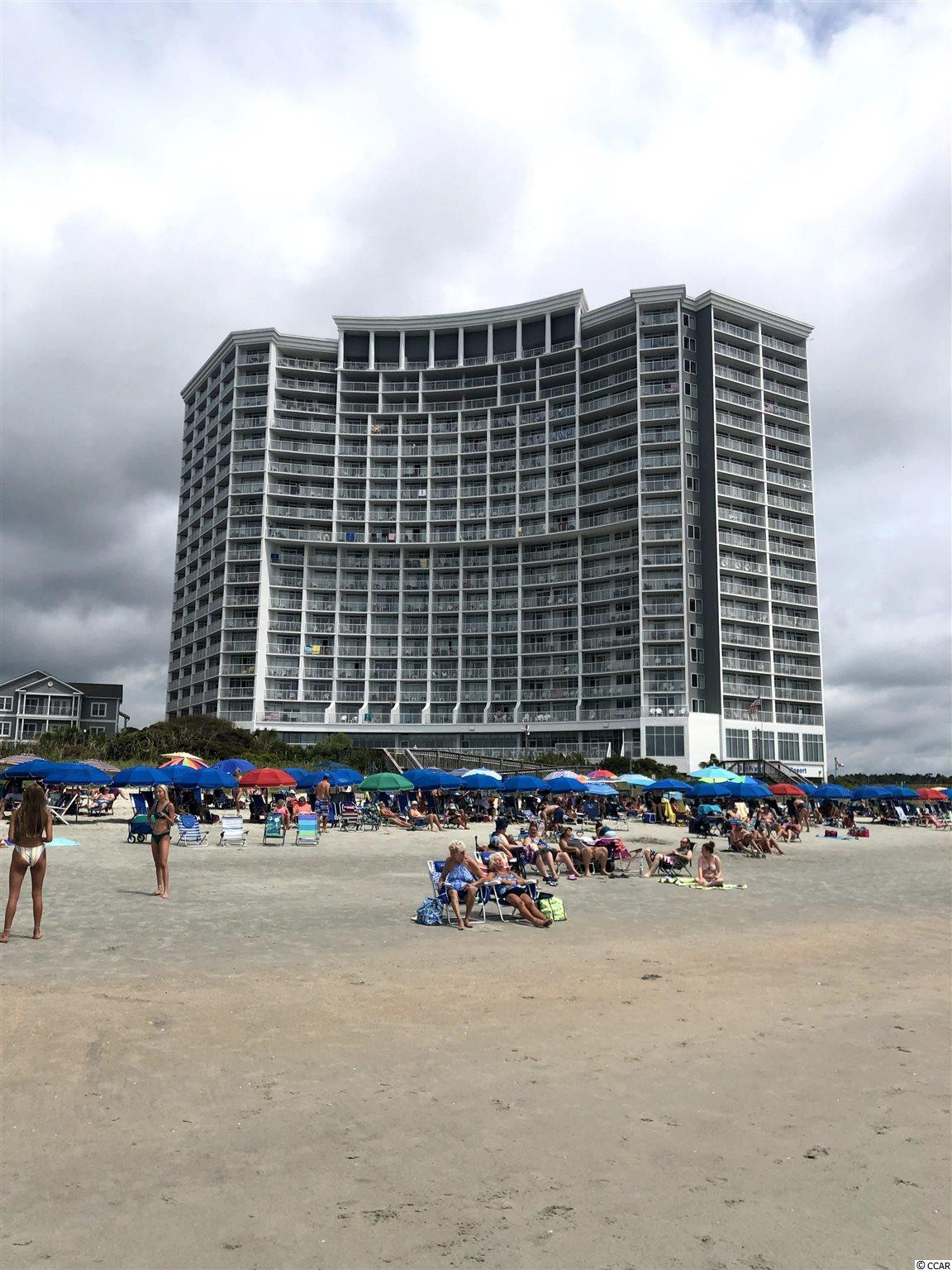 """# 1512 Seawatch N. Tower is a higher floor DIRECT OCEANFRONT 1 BR / 1 BA fully furnished and turn-key condo.  The 1 BR's on a higher floor in the building are LARGER than the 1 BR's on the lower floors.    This upgraded condo is a """"Premier"""" condo on the onsite rental program.   Also, this condo has a rare KING BED in the bedroom instead of the standard 2 double beds (king bed condos typically rent for more money than the 2 double beds).    This gorgeous condo also features:  A renovated kitchen with granite counter tops and new cabinets; newer furniture; newer carpeting; new mattress on the murphy bed; and a New HVAC system in Nov. 2019.   There is also an owner's closet in the condo, along with a murphy bed in the living room.   And, of course, the VIEWS!  Wow!   Unobstructed Atlantic Ocean AND southern coastline views for 30+ miles will mesmerize you constantly while inside the condo or on your balcony.  Seawatch Resort features 19 different water amenities including: 6 outdoor pools (2 are covered and heated), 2 huge lazy rivers, a kiddie pool, and 10 hot tubs.  There is also an onsite breakfast restaurant, a seasonal snack bar, seasonal oceanfront tiki bar, a gift shop, a fire pit, a playground, an arcade, fitness center, and banquet facilities.  With excellent rental income and an amazing 10 acre resort, # 1512 Seawatch N. Tower is an ideal 2nd home or rental income producing property."""
