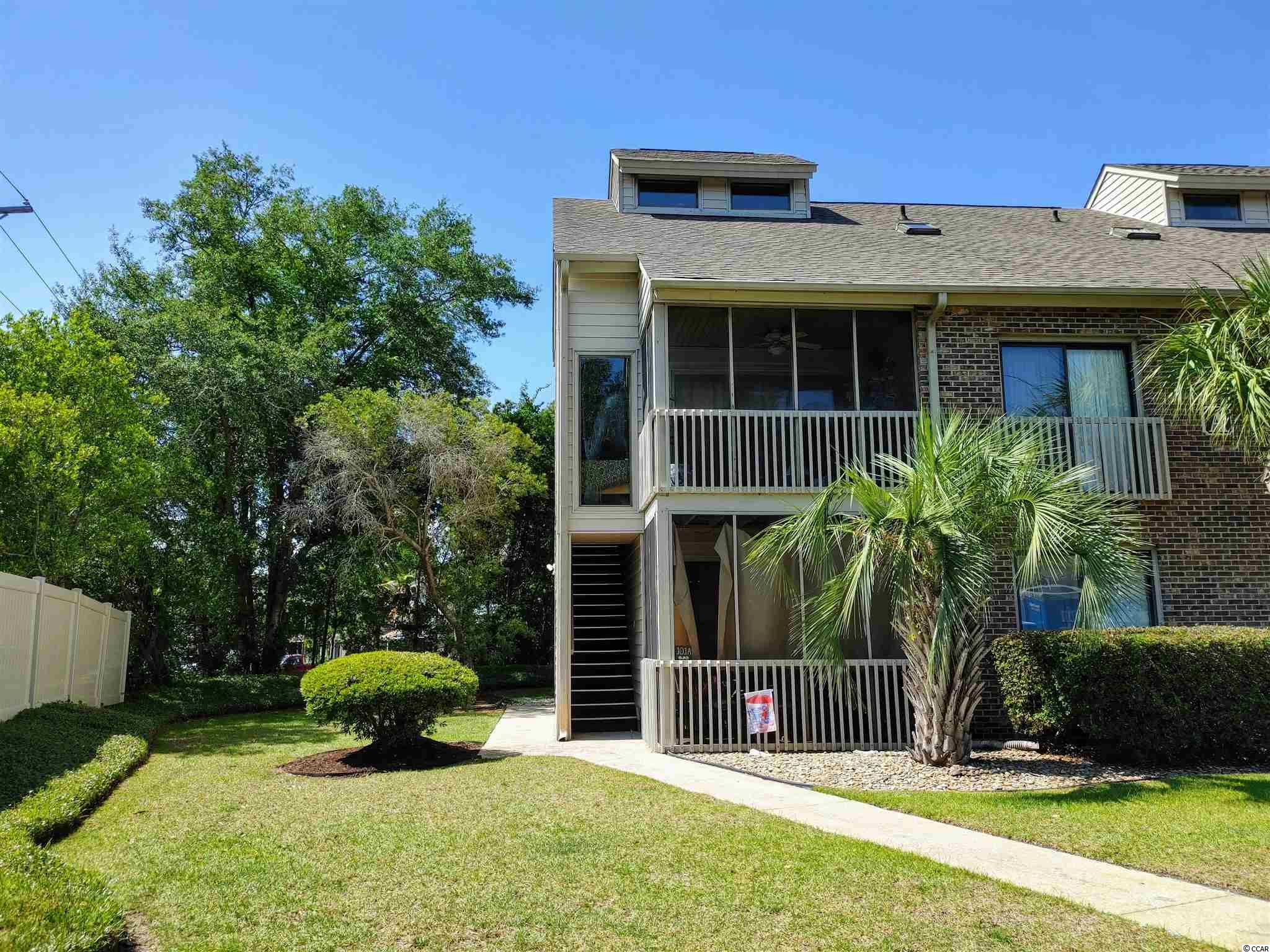 A must-see, well maintained, never rented, 1ST FLOOR beach condo in family-friendly Surfside Beach. A corner unit that features a private side entrance, unlike most of the others. This furnished, 2 bedroom, 2 full baths with walk-in showers, is move-in ready. This amazing condo can be your full-time, 2nd home or rental property, that offers a short golf-cart ride to the beach or relaxation by the community pool or private screened porch! It also features ceiling fans in the Living area, as well as both bedrooms, Pergo flooring in the Living area & Master bedroom, laminate flooring in the 2nd bedroom and tile flooring in the kitchen and both bathrooms. The kitchen also has beautiful Corian countertops and the Master bedroom features black-out curtains. A new roof was installed in 2017 and a new HVAC system in July 2018. Freshly painted, new lights and fixtures in mid 2019. Don't forget about the ample outside storage closet for all of your beach toys! Centrally located just minutes away from the beach, golfing, the Marshwalk, Market Common, great restaurants and many other Myrtle Beach attractions. Owner allowed 1 pet up to 30 lbs. Items in all 5 closets, do not convey. Square footage is approximate and not guaranteed. Buyer is responsible for verification.