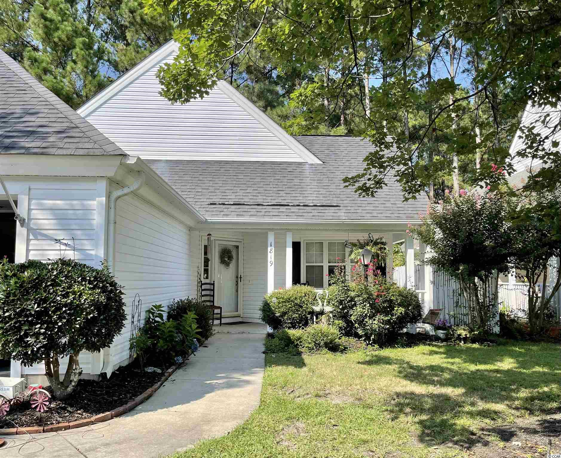 Welcome home to Prestwick Village! You will find a bright and open floor plan for entertaining in this 3 bedroom/2 bathroom home. The kitchen offers plenty of cabinets, a large island and Corian countertops. The split bedroom floor plan provides plenty of privacy for the master suite. Directly off the living room is a screened in porch and an outside patio for relaxing. Prestwick is a beautiful, gated community with 24 hour security. HOA fees include: tennis courts, jr. Olympic size pool, a cabana, cable TV & internet, and trash pick up. The community has a Pete Dye designed golf course & additional tennis stadium available for use with a separate membership. Location provides easy access to the beach, restaurants, and shopping.