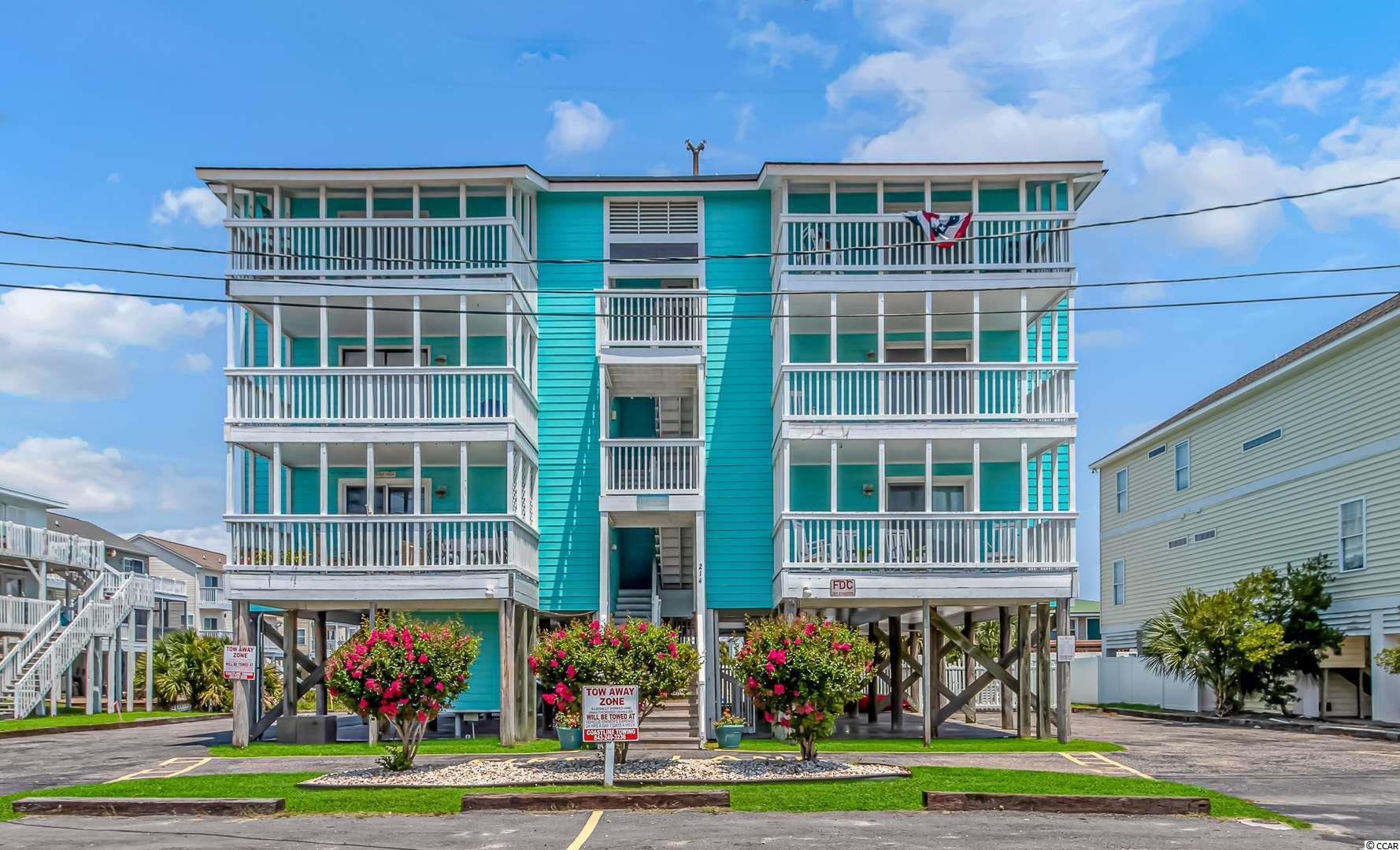 Cherry Grove at it's finest!!! This gem gives you a water view with low HOA's. Not only are you steps away from the beach but you are fully furnished to boot. This 2 bedroom, 2 bathroom turnkey condo has been fully upgraded and allows any family to move right in and start enjoying the coastal life. The unit allows for double porches so bigger groups can spread out enjoying the sunrise from both ends of the condo. Please ask for the upgrade list attached to the listing and schedule your showing today!