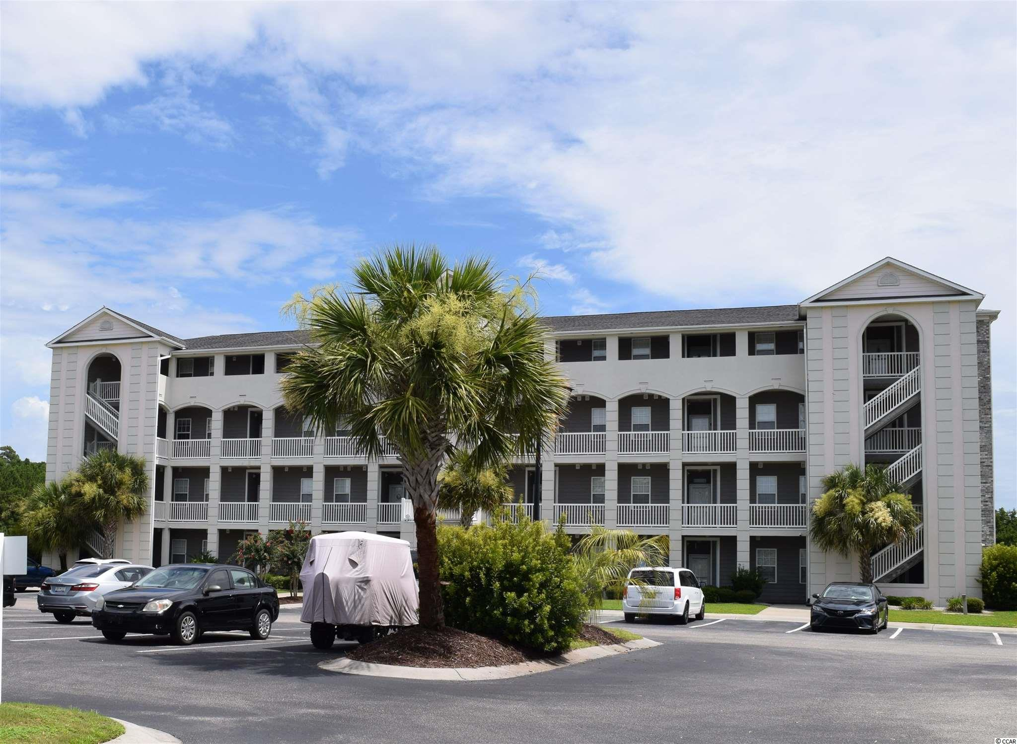 Wow.  There are so many wonderful features to love about this 3 bedroom fully furnished condo.  It is a top floor end unit with a vaulted ceiling in an ELEVATOR building.  The family room and 1st bedroom have a great water view.  The community has waterway amenities, pool and fitness center.  The home is spacious, has a good sized screened balcony, ample closet space, nice laundry area, kitchen and bathrooms. This is a golf cart, boater and motorcycle friendly community.  This upscale neighborhood is very well maintained and has a lush feeling with lots of open space, water and mature landscaping.  Carolina Yacht Landing is in a very convenient location to all the fun, shopping and dining in Little River and North Myrtle Beach.