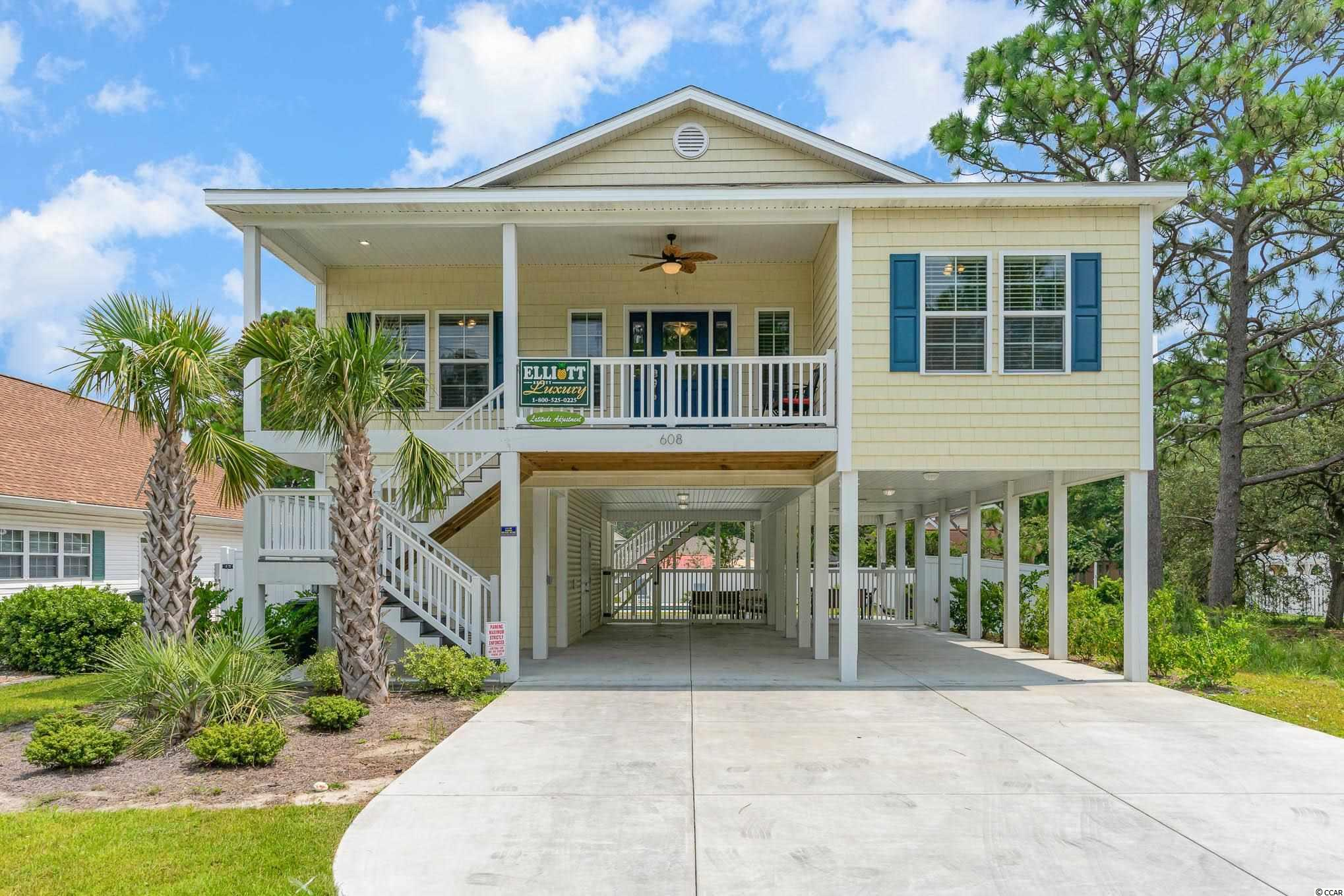 This stunning raised beach house in North Myrtle Beach with NO HOA will not last long! Property has 9 & 10 Ft ceilings and crown molding throughout, granite countertops and even an inground heated pool in the back yard! Property is only 3 blocks to the Atlantic Ocean which makes for the perfect walk or golf cart ride to the beach. Located in close proximity to all attractions, restaurants and shopping that North Myrtle Beach has to offer. Call today for more information or to schedule a showing.