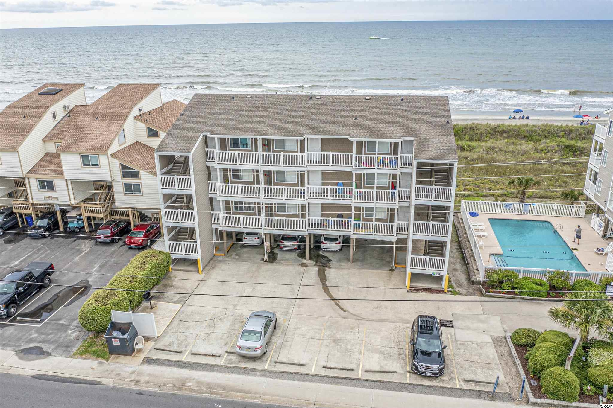 Check out the views from this top floor end unit in Raintree Villas! This two bedroom, two bathroom condo has been used as a secondary home and well taken care of over the years. Raintree Villas is a small quiet oceanfront community that's conveniently located near all North Myrtle Beach has to offer. Don't miss out!