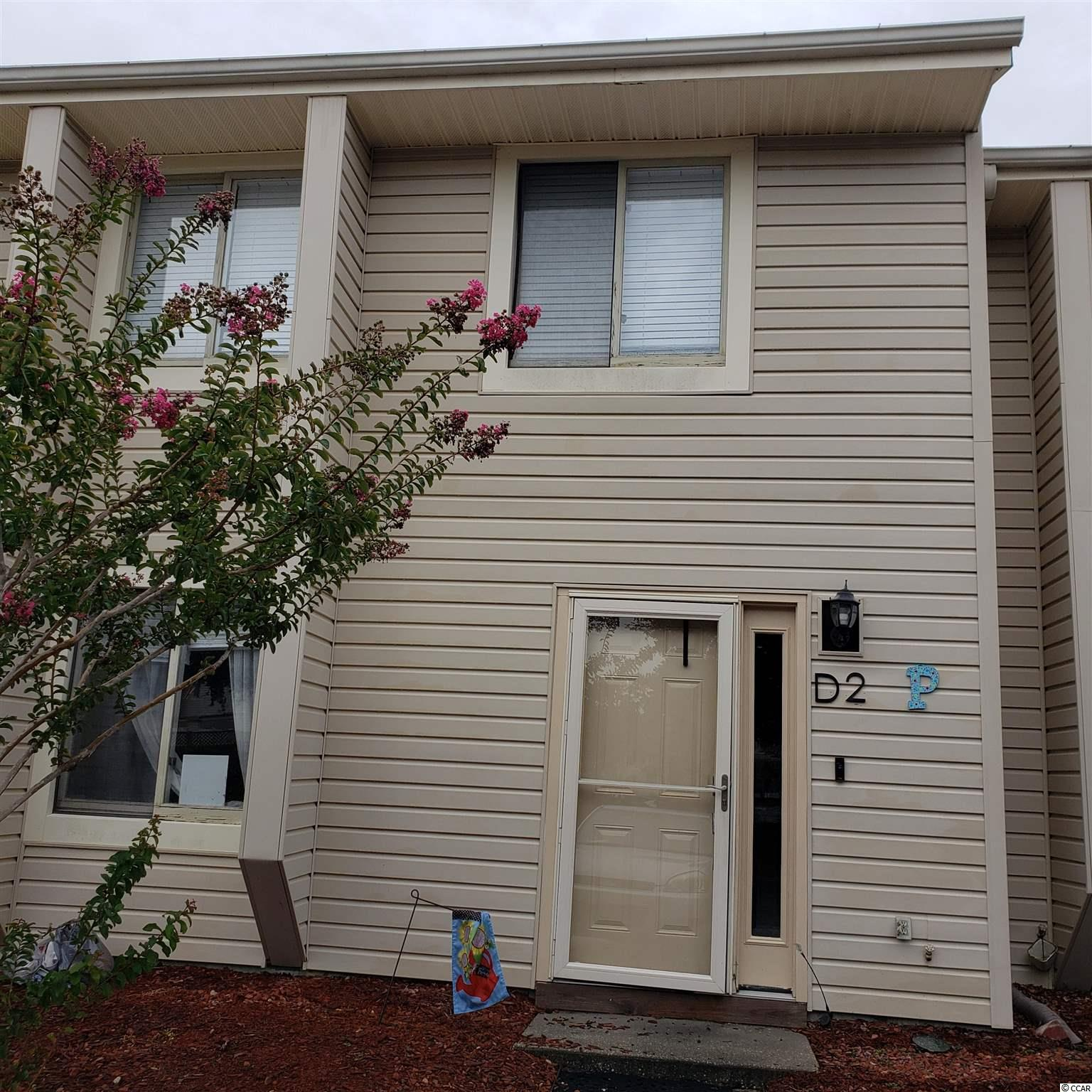A great location across from the Seacoast McLeod Hospital and medical center.  Close to shopping, dining and entertainment. Less than 4 miles to the beach.   Upgraded appliances in the kitchen, recently replaced water heater, HVAC and roofing. New sliding glass door in the back with a nice view and yard area. Project pool is salt water and wonderful! Back yard patio may be able to be extended with HOA approval. Back yard is very nice and open, you are not looking directly into anyone else yards