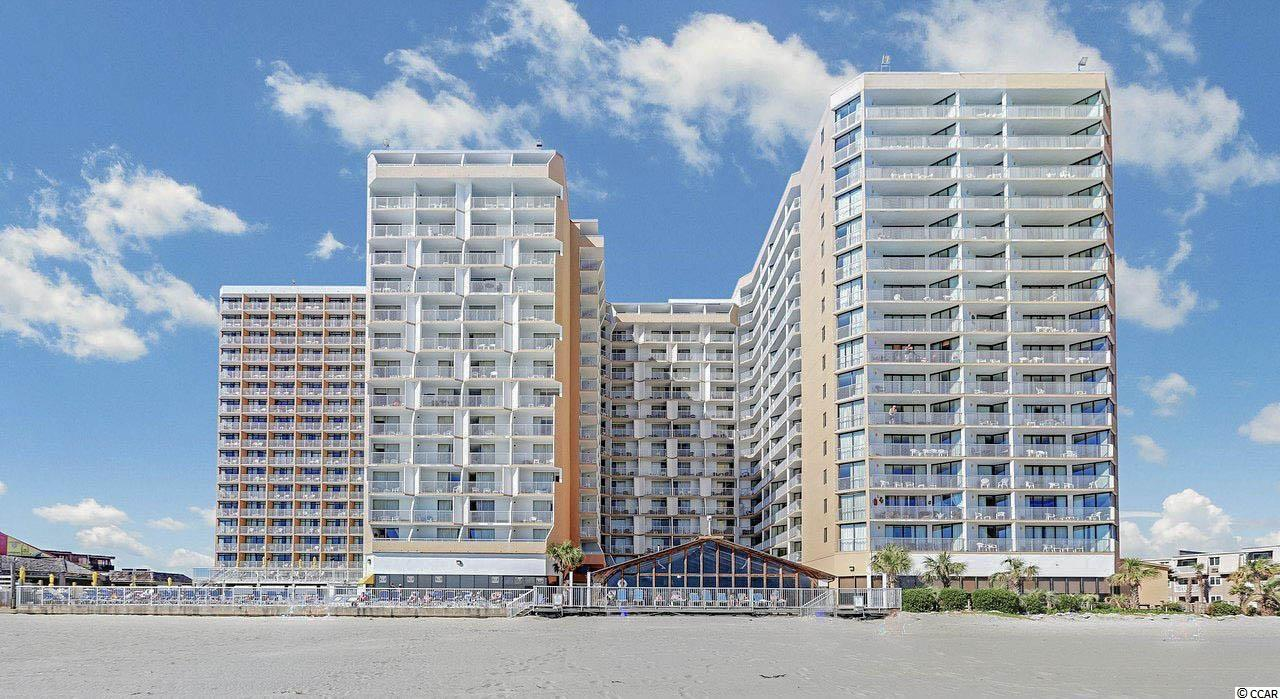 Fantastic Ocean Views from this updated and furnished condo in the popular Sands Ocean Resort. Move in ready,  as this unit has fresh paint, new bedding, solid surface counter tops, refrigerator, cook top, microwave, pantry and new flooring.  Enjoy the many amenities that Sands Ocean has to offer with indoor and outdoor pools, lazy river, onsite restaurant and the Beach Bar Ocean Annie's with live music.  Golf cart friendly to tool about town and over to the Outlets.  Lovely views of the Southern Coast and a relaxing balcony to capture the sights!