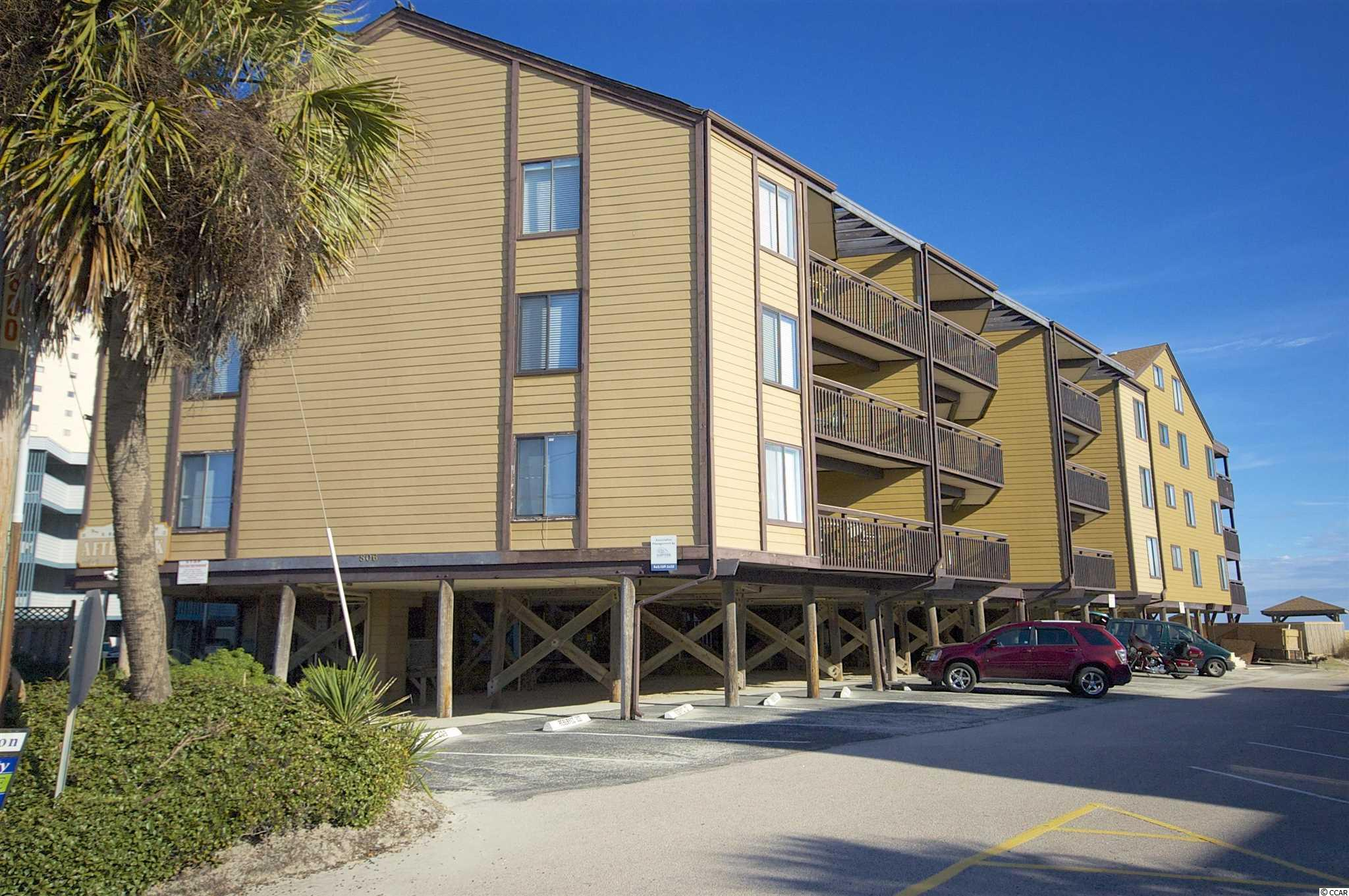 Looking for a spacious ocean view condo in Garden City Beach? This property has a great view from the balcony as well as the living room of the property. The condo features two bedrooms and two baths, a great kitchen that over looks the dining area and the living room. There is a laundry room in the condo as well. Afterdeck features an elevator as well as a pool. Not too many places feature both for this price! There is also a private storage room under the building for this unit. It's a great place to store all of your beach gear!