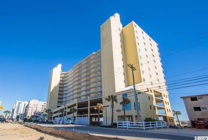 Welcome to Sunrise Pointe!  Rarely on the market, this three bedroom three bath unit on the 9th floor offers spectacular views of the Atlantic Ocean.  Prime Cherry Grove location, Sunrise Pointe is one of the most desired complexes in the area and offers wonderful amenities.  Stay tuned...professional photos will be coming!! This condo has a spacious feel with plenty of space to relax and enjoy the coastal lifestyle and has been well maintained.  Perfect for a second home or investment property with short term rentals.  As you enter the unit you'll find a great coastal color scheme with soothing colors for a welcoming feel.  The foyer hallway is tiled and the two secondary bedrooms are at the front of the condo.  One bedroom has a smaller ensuite bath with fully tiled walk in shower and new vanity and plumbing fixtures.  The hall bathroom services the other bedroom.  The tub has been professionally reglazed in bright white, countertops epoxy coated and textured and new plumbing fixtures added.  The heart of the condo is the combination living, dining and kitchen area.  A large bar top creates a gathering space.  White and bright cabinets combined with white appliances give a crisp and clean look.  The kitchen counters are a textured light beige and are very durable.  Plenty of cabinet space and room to prepare meals for a group.  Appliances were replaced in the past few years.  A laundry closet with full size washer and dryer is available in the unit.  A pantry is also available for additional storage space.  Laminate wood look plank flooring is throughout the living areas.  Just off of the living room an expansive balcony offers views of the oceanfront and tons of space to relax and feel the ocean breeze.  The master suite has balcony access as well and a large attached bathroom.  The bath has dual vanities, walk in shower stall and large garden tub.  Newer HVAC was installed in 2016.  This unit comes fully furnished with all appliances and electronics; with some m