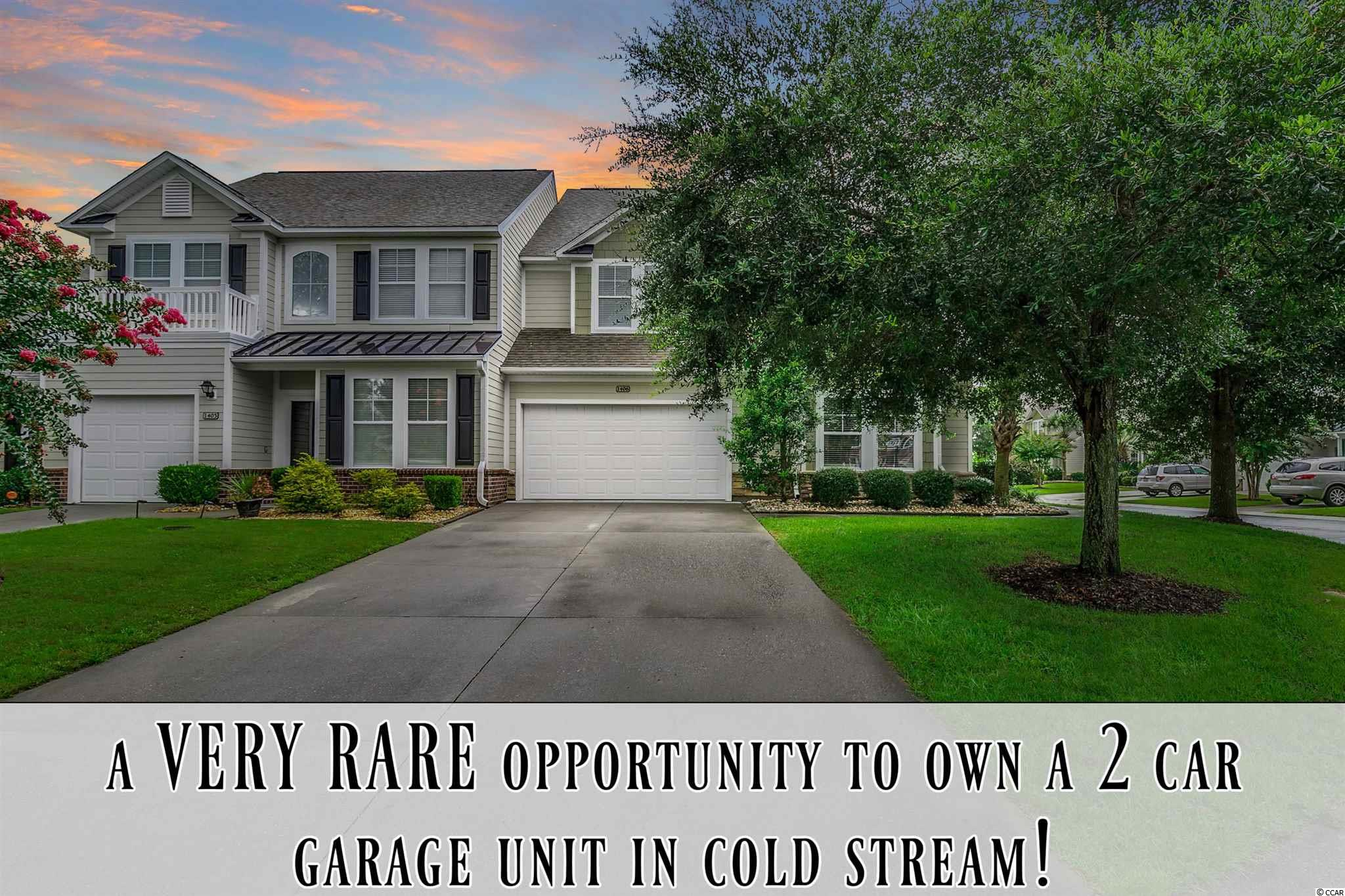 A rare opportunity in Cold Stream Cove!!! One of the only 2 car garage floor plans built within the community (and a spacious corner unit!). Cold Stream Cove is a townhome community located directly across the street from the only TPC golf course in the state of SC and directly in the heart of most sought after areas of Murrells Inlet (Prince Creek). Not only do these 2 car garage plans hardly come up for sale, this specific unit has brand new LVP flooring in the living areas & master bedroom, all brand new carpeting upstairs, and all walls and baseboards freshly painted! There are just so many perks to list.... You can even short term rent in Cold Stream Cove if you would like!!! Although there aren't many short term rentals within the community, the master deed does allow it. This is extremely rare in our area! Most vacation rentals are located on or within a few blocks of the ocean and pretty much all HOA restrictions within our area DO NOT allow the option to rent anything less than 12 months. So in most circumstances this would prevent you from weekly rentals to help offset any of your expenses. Well, the wonderful possibility is there at Cold Stream Cove!! This really does make this community even more desirable/valuable! The option is there whether you use it or not. Certainly a valuable selling feature even if you aren't going to take advantage of the option. Some other features to highlight: Corner location, very close to guest parking, away from any noise of the community pool, large kitchen, vaulted ceilings, 1st floor master bedroom, large master walk-in closet, large bedrooms, walk-in attic storage, additional flex area upstairs (perfect for home office desk), and a nice screened in porch (not all these units have the screened in porch which adds huge value). **Please be sure to check out the 360° Immoviewer® virtual tour link, which can be found on the main listing page**. You DO NOT want to let this one get away like the last one did!