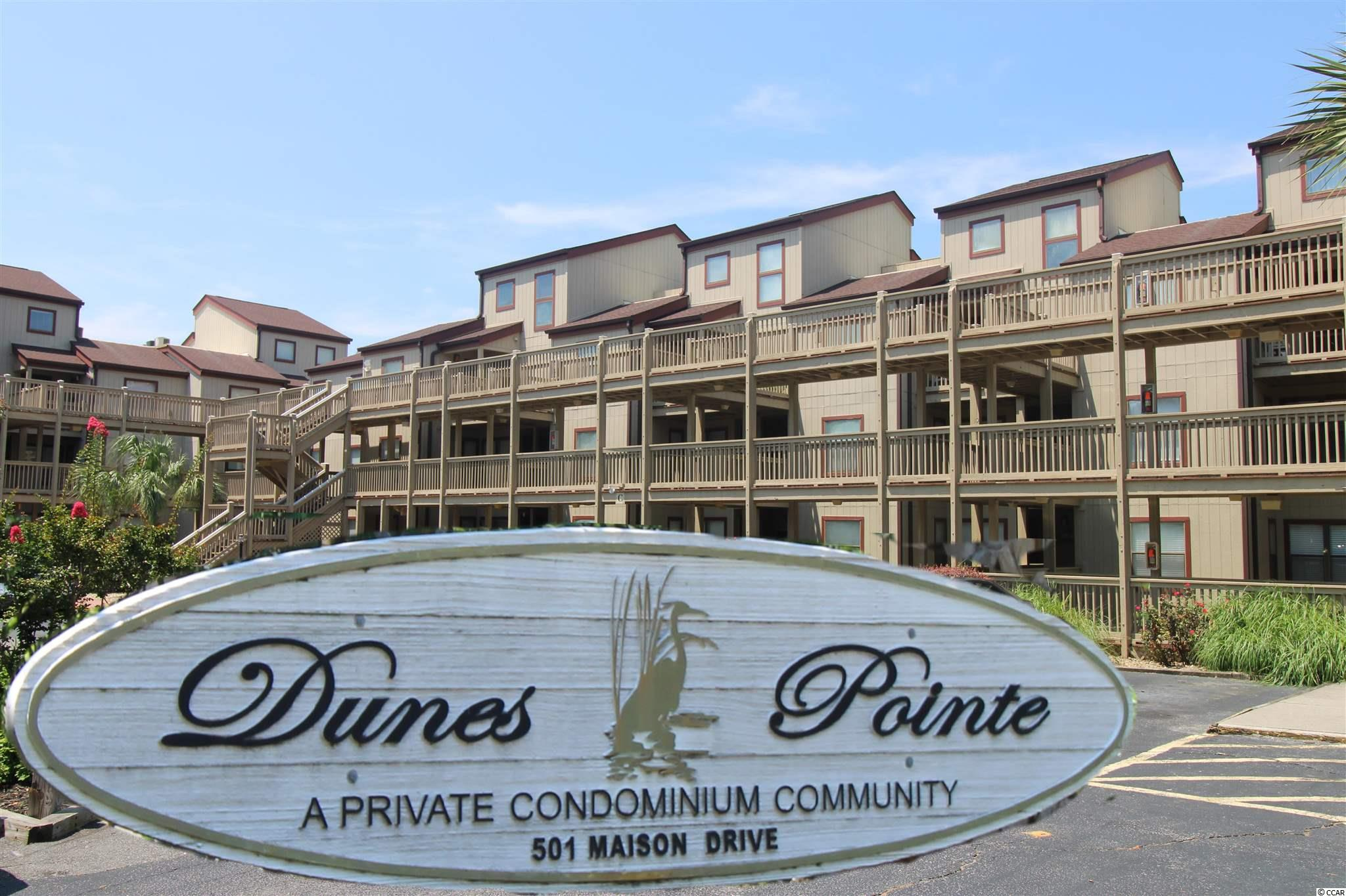 """DUNES POINTE - MYRTLE BEACH - Popular ARCADIAN SECTION near Shore Drive! 2 Bedroom-2 Full Bath-furnished 1000+ Sqft condo on 1st level!  Well maintained condo w/full size kitchen & dining area featuring a large SCREENED porch overlooking the expansive green lawn with Dunes Lake in the background. Amenities include: outdoor and indoor swimming pools, tennis courts and club house. Notables: updated bathrooms $$$, washer and dryer """"in unit"""" included, 900 yards walk/cart to the beach, 2 miles from Hwy 22 and near many attractions including: Barefoot Landing, Tanger Outlets and Apache Pier! Turn Key for investment or personal use."""