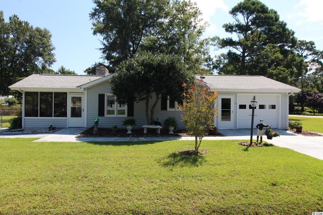 """This quality 3BR/2BA home with an oversized 1-car garage is being offered for sale by the original owner. The property is 0.34 acre corner lot with a screened-in back porch, fenced back yard & storage shed (8x10). HVAC new in 2020. Roof was replaced in 2016. The great room has vaulted ceilings and a gas fireplace with remote control start up. The kitchen has Corian countertops & smooth top stove. Formal Dining Room. The home has handicap accessibility features including 36"""" wide door frames and walk-in shower in master bathroom. New shower in 2nd bathroom. Termite treatment system. Close to Socastee High School and all the attractions and amenities that the Grand Strand has to offer."""