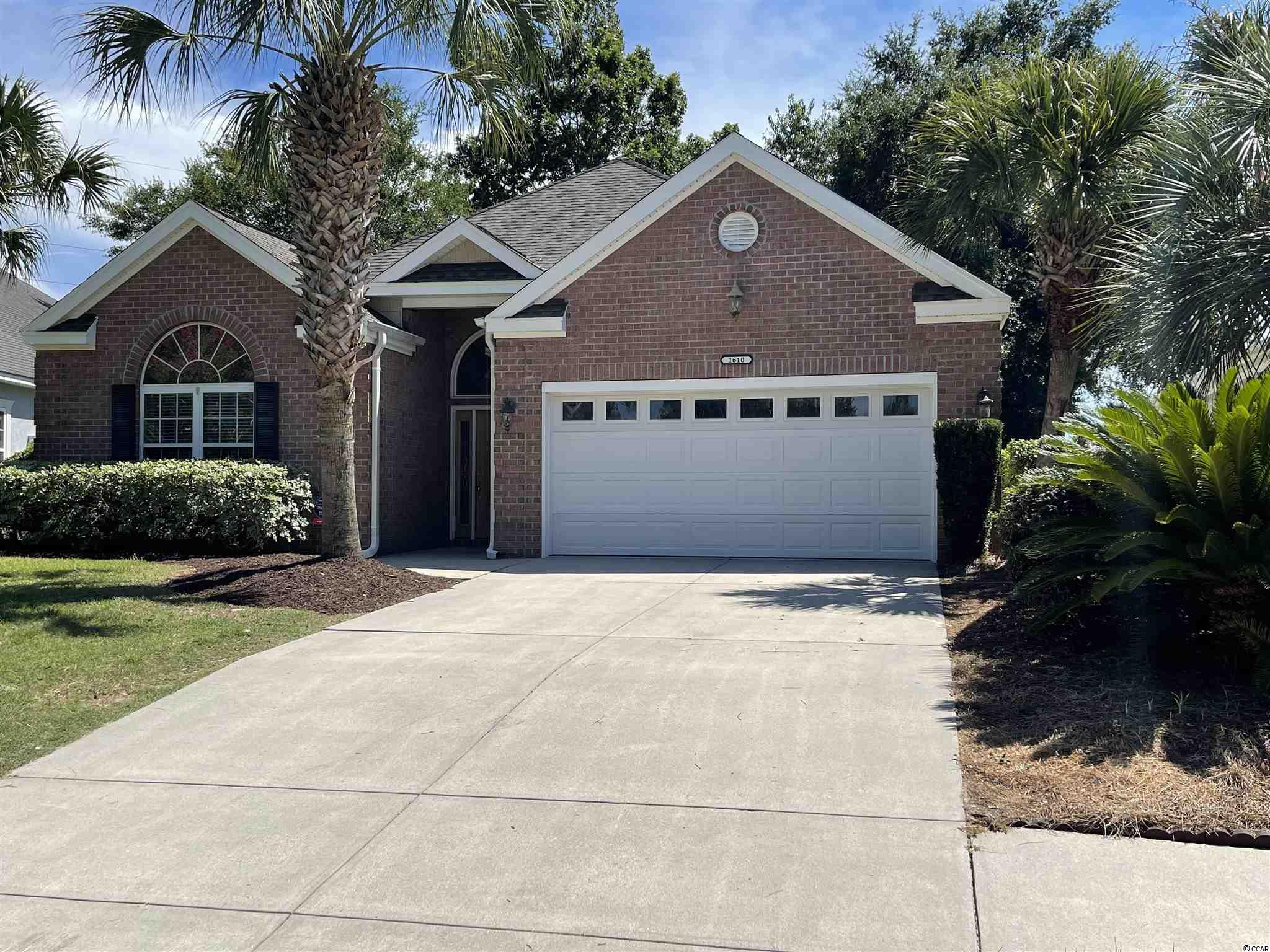 Sunset Harbor ranch home with new carpet and fresh paint throughout with updated kitchen and open floor plan, His and Hers closet and sinks. Screened in back porch faces pond and fountain. Community clubhouse, pool, boat dock, boat ramp and boat/RV storage lot.