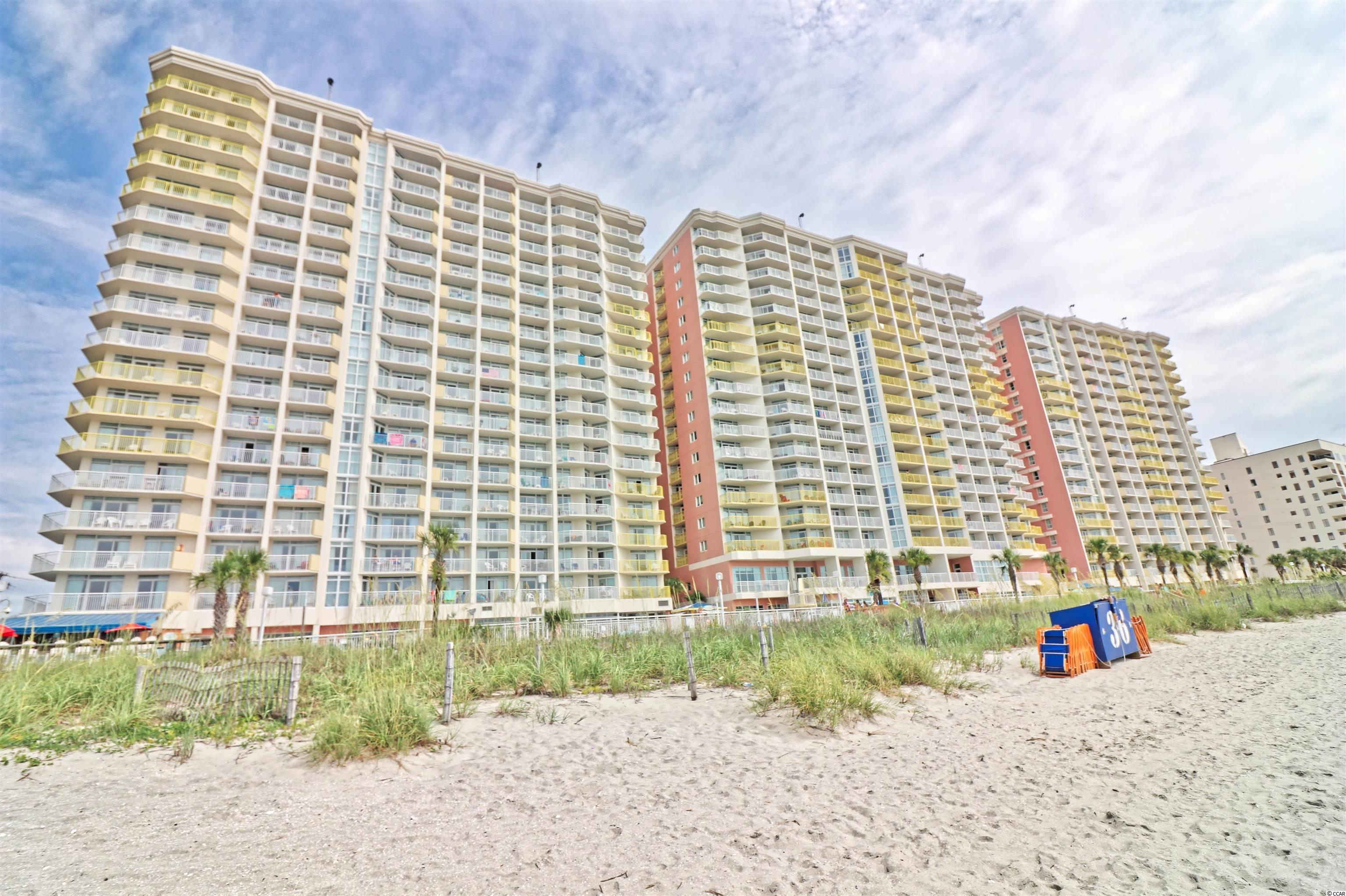 DIRECT  OCEANFRONT 2 bedroom / 2 full bath condominium in one of the Grand Strand's most popular resort destinations -Baywatch Resort in North Myrtle Beach, SC. The views are unbelievable - you can see the ocean for miles and miles including the entire southern panoramic coastline! This condominium is in tip-top shape with all of the required upgrades from the onsite rental management company. Full-sized kitchen with refrigerator, dishwasher, microwave oven, stove and oven, and garbage disposal. The owner's bedroom has a king size bed and a nice jetted garden tub. There are flatscreen TVs in the living room as well as both bedrooms. There is also an owners' closet for you to store your everyday items so that you don't have to bring them with you on each vacation. Baywatch Resort is a full-service resort featuring: valet service from the moment you arrive; onsite Beach Bar; onsite restaurant; onsite bar/grill; 18 indoor and outdoor pools, lazy rivers, and hot tubs; 600 feet of the oceanfront pool deck with multiple beach accesses; convenience store and gift shop; cable TV with free HBO; 6500 sq. ft. of meeting space, banquet, and exhibit space; fitness center; onsite Spa Services; free Wi-Fi access in all condos; business center; golf and entertainment packages; and it is a smoke-free resort. Take advantage of the current market values and finally own that oceanfront property you know you've always dreamed about!