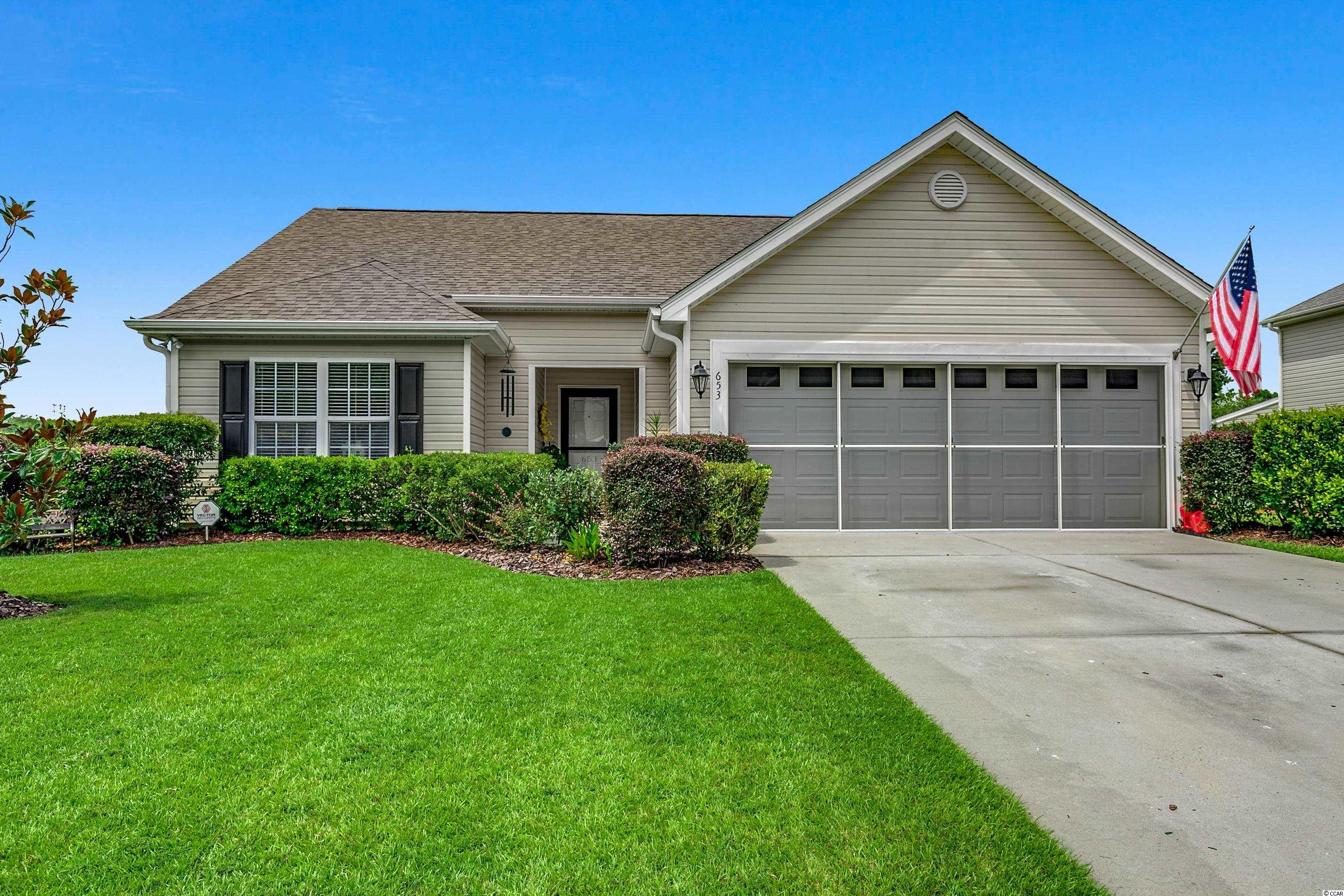Beautiful 3 Bedroom - 2 Bath Home in well established community. Bright open Carolina Room, Screened in Back Porch installed 2015 with ceiling fan, Exterior Stone patio for your entertainment, Garage has pull down door for quick access to  attic and double garage door screen. Large Master bedroom/Bathroom with ceiling fan, walk-in closet, double vanity sinks, Walk-in Shower, Linen Closet & vinyl plank Flooring. Kitchen offers Granite counter tops. All appliances convey to the new owner. Luxury vinyl planking thru out home except the 2 guest bedrooms. New water heater installed 2014. New roof installed 2015. Home is located 1.5 miles to NMB Park & Sport Center, 4 Miles to NMB Aquatic & Fitness Ctr. Quick access to Hwy 31 & main street in NMB. If interested please contact your agent for floorplan.