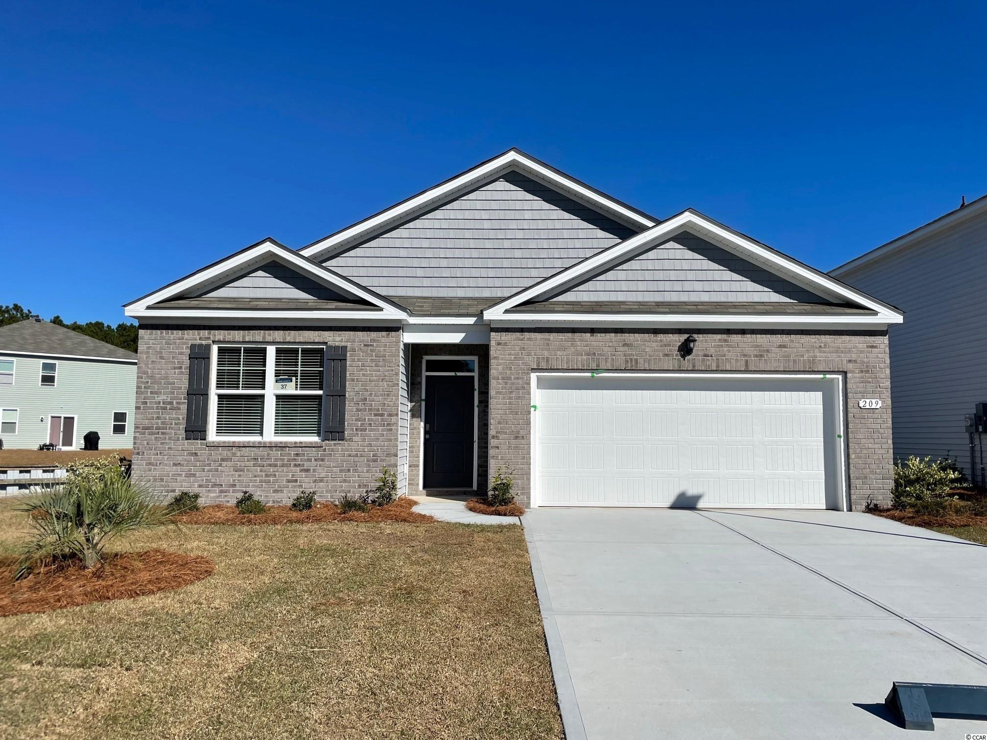 Oak Arbor is a brand new natural gas community conveniently located off of Highway 707 in Murrells Inlet close to shopping, schools, and the famous Murrells Inlet Marsh Walk. The home is the perfect choice for any stage of life, whether you are buying your first home or downsizing. This home features an open concept living room and kitchen that are great for entertaining along with incredible standard features including white painted cabinetry, stainless Whirlpool appliances with a gas range, granite in the kitchen, and beautiful laminate wood flooring throughout the main living areas. This home also boasts 9 ft. ceilings, a great sized pantry for storage, and a split bedroom design creating a private primary bedroom suite! Enjoy the covered porch overlooking the pond on a corner homesite! It gets better- this is America's Smart Home! Control the thermostat, front door light and lock, and video doorbell from your smartphone or with voice commands to Alexa. Tankless gas water heater, two-car garage with garage door opener, and our QuickTie framing system also included.  *Photos are of a similar Cali home. (Home and community information, including pricing, included features, terms, availability and amenities, are subject to change prior to sale at any time without notice or obligation. Square footages are approximate. Pictures, photographs, colors, features, and sizes are for illustration purposes only and will vary from the homes as built. Equal housing opportunity builder.)
