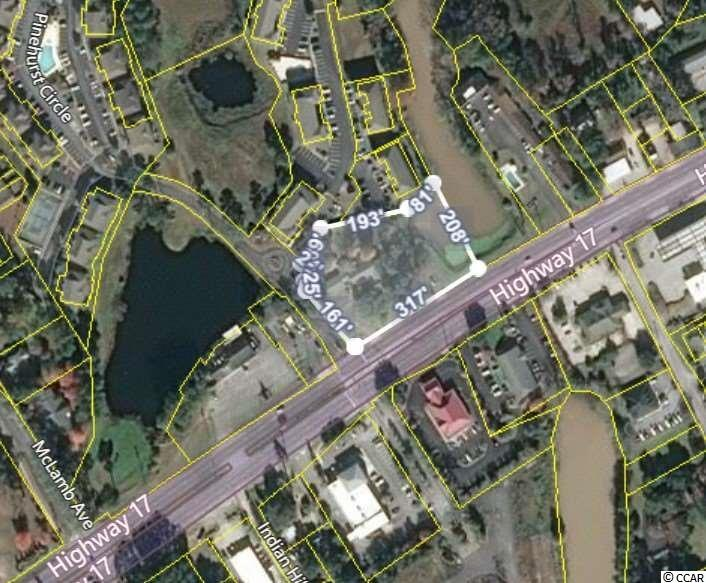 1.66 Acres zoned Highway Commercial with 317 feet of Highway 17 Road front in the heart of Little River, SC on a corner with a traffic light. Traffic Count is 33,900, high population densities, high average household income, and high average property value at the 1, 3, and 5 mile radius of this property. Area statistics are available on request. Highway Commercial zoning allows for most any type of business. A list of permittable businesses is also available on request .This commercial lot has unlimited potential and return on investment opportunity. The property was once the home of the famous Stella's Bed & Breakfast which operated a successful business at this location for more than 40 years. When you research this property you will see that commercial lots are rare in this area and this is one of the last that you will ever see on the market that is located on a corner with a traffic signal.
