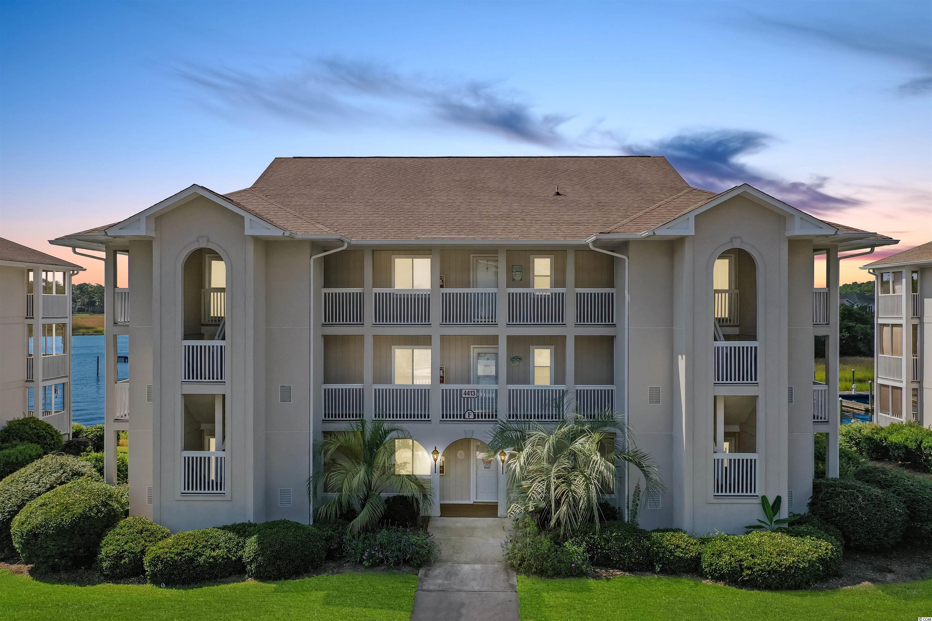 """This is the condo if you are seeking a turn-key, 2 bedroom, 2 bath unit with breathtaking views of the Intracoastal Waterway from the master bedroom & living room and where you can enjoy morning coffee or an afternoon drink on the screened balcony while watching the boats traverse the ICW.  Simply beautiful, tastefully decorated unit, with lots of light due to additional windows since it is an end unit.  Unit is in excellent shape with all the upgrades you could desire, with granite counters in kitchen & bathrooms, tumbled marble back splash with inlay in kitchen, vinyl plank wood flooring in all areas except kitchen and baths where there is tile.  Stainless appliances, new garbage disposal, upgraded light fixtures and bathroom fixtures, stackable washer/dryer and so much more and it comes furnished except for just a few decorative exclusions.  There is a private storage room for your beach chairs & toys directly across from your front door.  Development has wonderful amenities with a pool in Spinnaker Cove backing up to the golf course as well as access to the Eastport salt water pool, hot tub and gazebo.  If golfing is your forte, Eastport is a challenging course for you to try.  The Little River area is a well kept secret in that it affords you access to the beach within 10 minutes, boating in 5 minutes and close proximity to wonderful restaurants, shopping and attractions as well as being host to several festivals each year.  So don't wait long before taking a look at this """"perfect place near the beach"""" or someone will have already bought it!  All you need are your flip flops, bathing suit, a few clothes and some toiletries and it will be home.  Marina is privately owned and not available to Spinnaker Cove owners."""