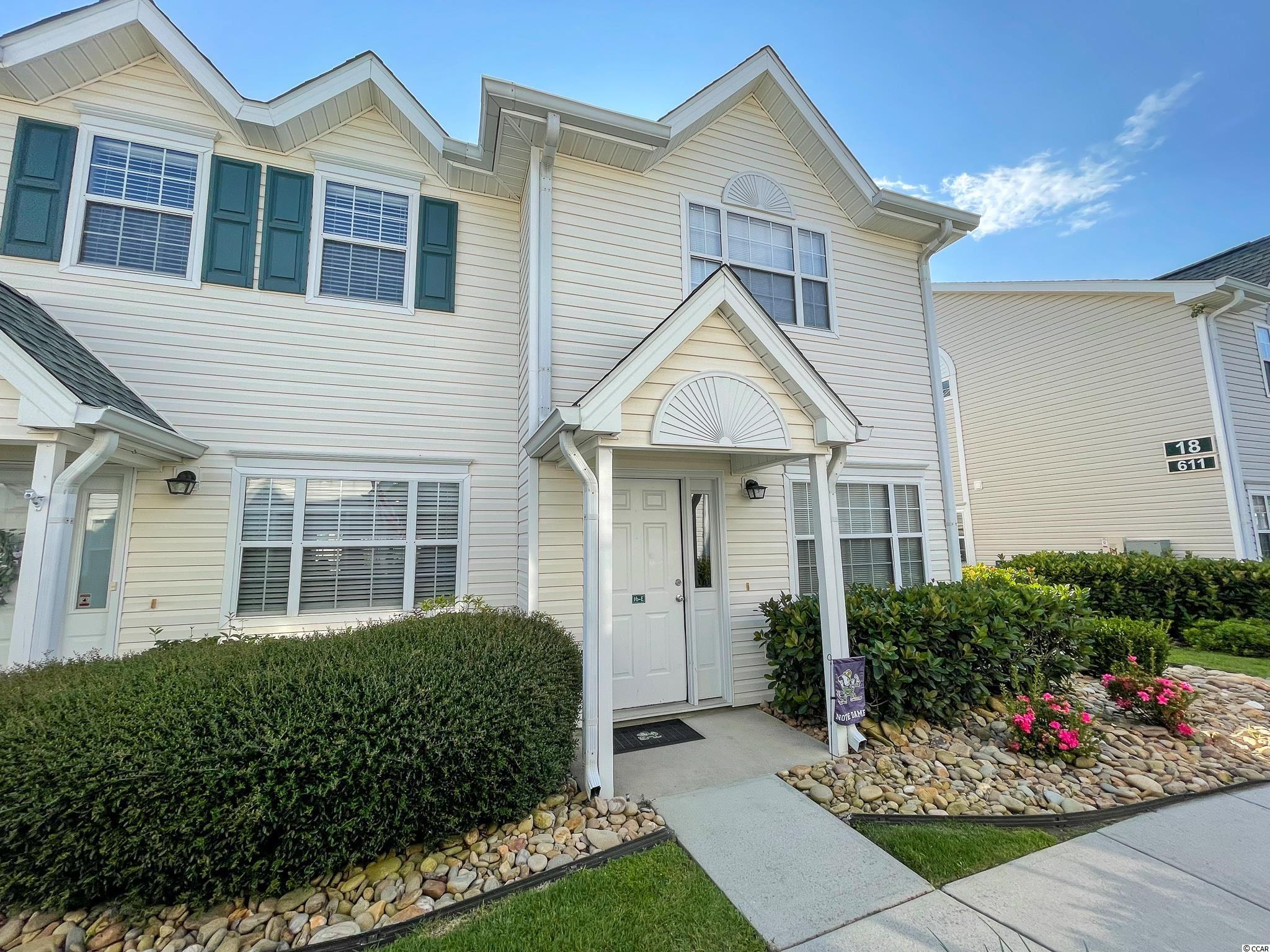 Fantastic location for this 2BR/2.5BA unit at Sea Garden, east of Business 17 in North Myrtle Beach.  This end unit has it's own private patio that is fenced.  If you were looking for a home east of Business 17, this is an amazing opportunity that will not last! Square footage is approximate & not guaranteed. Buyer is responsible for verification.