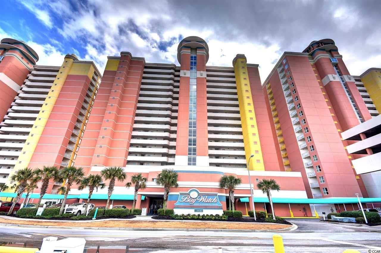 DIRECT OCEANFRONT 3 bed / 2 full bath condo in one of the Grand Strand's most popular resort destinations, Baywatch Resort in North Myrtle Beach, SC!! As you walk through this very spacious FULLY FURNISHED unit, you will find beautiful tile flooring in the kitchen and bathrooms. You will also find that you can access your balcony through the Master bedroom as well as living room! Bay Watch is known for their great HOA fees that cover ALL of your utilities including electric and internet PLUS tons of amenities! If you're looking for a wise investment -- look no further. Since this condo is the largest in the center tower and includes a washer/dryer in the unit, it stays rented YEAR-ROUND! The whole family will never run out of things to do since there's an indoor pool, an outdoor pool, lazy river, a fitness center, an onsite restaurant, an outdoor bar, and so much more onsite at the resort! Bay Watch is on the ocean and located close to Barefoot Landing, tons of restaurants, Tanger Outlets, golf courses, The Alabama Theater, Duplin Winery, Alligator Adventure, and the list goes on. Put this one on your must-see list!
