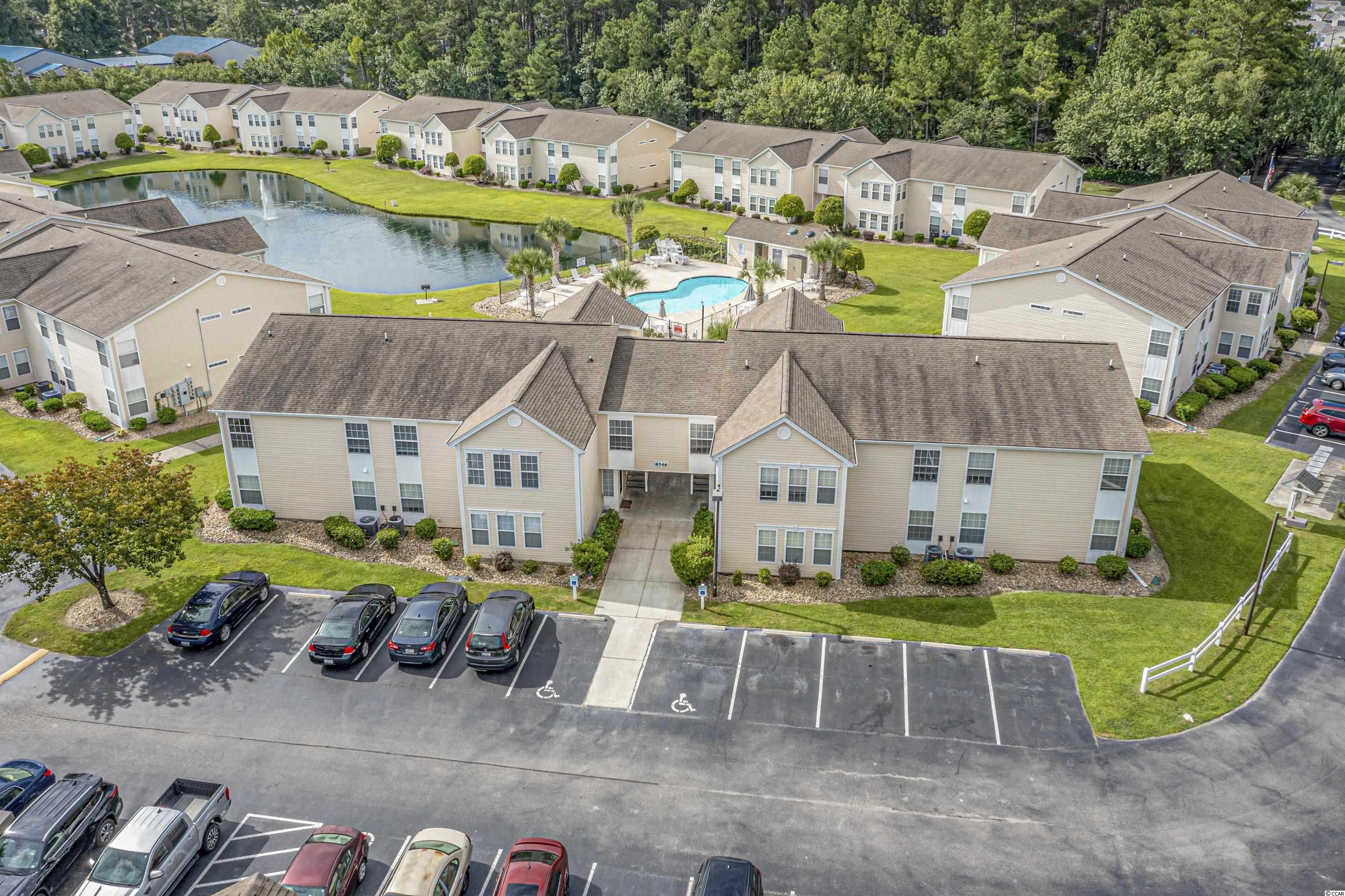 If you are looking for a great move-in-ready, second-floor condo, conveniently located in Surfside Beach, look no further! This fantastic 3 bed / 2 bath condo is located in the highly sought after community of Southbridge Villas. The unit is freshly painted, the kitchen - recently renovated, and Samsung appliances were purchased in 2020. This property would make a great investment, a second home, or your primary residence.  It is a very short drive to the beach, and it is conveniently located close to shopping, dining, and entertainment. Square footage is approximate and not guaranteed. Buyers responsible for verification.