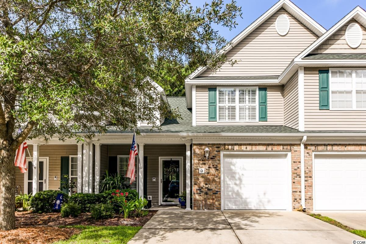 Beautiful 3 bedroom 2.5 bath townhouse located in Park West of Murrells Inlet! This incredible townhome features an attached 1 car garage and two story floor plan, as well as plantation shutters and engineered hardwood floors throughout! The open concept living area features a vaulted ceiling with a fan in the living room and a dining area between the kitchen and living room. In the kitchen you will find stainless steel appliances, a work island, recessed lighting, and a breakfast bar. The living room has sliding glass doors out to the fabulous screened in porch with herringbone patterned floors and a ceiling fan! The master bedroom is on the first floor and has an ensuite bath with double sinks on a long vanity, a walk-in closet, a linen closet, and a luxurious custom tile and river rock shower! On the first floor there is also a half bath for guests and a laundry closet as well. Upstairs there are two additional good sized bedrooms each with ceiling fans and closets of their own. There is also a second full bath upstairs for these rooms to share. Another great bonus is that Park West has a great community pool for you to enjoy! Located in Murrells Inlet close to tons of amazing golf courses like TPC of Myrtle Beach and just a short drive (less than 15 mins) from the beach in Garden City! Other nearby attractions include Huntington Beach State Park, Brookgreen Gardens, and the famous Murrells Inlet Marshwalk with all of it's phenomenal restaurants and entertainment! Don't miss out on this stunning townhome in a perfect location, schedule your showing today!