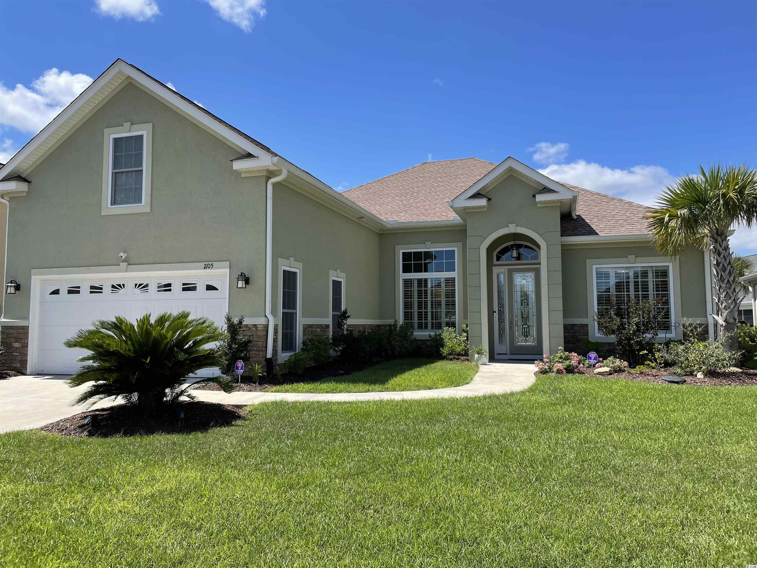 This beautifully upgraded Mediterranean style home is located in the popular Tuscan Sands subdivision at Barefoot Resort and Golf. Upgrades include, but are not limited to, twelve foot ceilings, Carolina room with custom cabinetry and built in bar, a four (4) foot wide disappearing sliding doors unit leading to a nine hundred (900) square foot pavered patio complete with built in planters, portable fire pit, and large hot tub. Other upgrades include custom living room cabinetry, an electric fireplace, a fully wheelchair accessible master bath, and an outdoor shower. This home has over 2,600 square feet of air conditioned living area and is just over 3,200 total square feet, thus providing a generous amount of open floor living space. From the kitchen's level 2 granite and stainless steel appliances (including double oven) to the master suite and bath's double sinks and luxurious walk-in shower, this house exudes quality craftsmanship. If you are looking for a house built with extra care and attention to detail, this is it. This home was custom built for the owners in 2018. They have been the sole occupiers of the house for the past three (3) years. Tuscan Sands has a prime location within the Resort. It is within walking distance of the Resort Clubhouse, driving range, and restaurants. You are also a little over a mile to the ocean and right across the Intracoastal from Barefoot Landing and all that the beach has to offer. You could not ask for a better place to call home. Don't miss out on this amazing opportunity to live in the lap of luxury at Barefoot Resort and Golf!