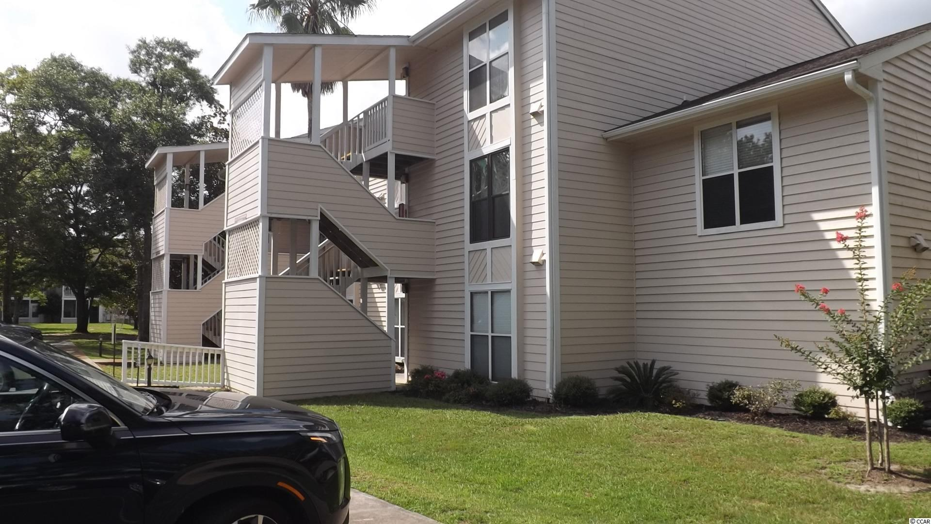 Affordable ground floor,one bedroom/one bath condo at Little River Golf and Health (Little River Inn). Seller has upgraded with new carpet and paint. Spacious living area opens into a shaded patio. Breakfast bar and a full service kitchen area over look the living area. The condo comes with a primary bedroom and a large owners closet. The condo is located in the front of the property and is just a short walk to the pool and jacuzzi.  Little River Inn offers low HOAs, two pools a jacuzzi and trash bin. The grounds offer several picnic areas and is a short walk to Lifequest Spa. Little River Inn is only a 5 minute drive to the beach, has easy access to all major highways and is close to shopping and entertainment.