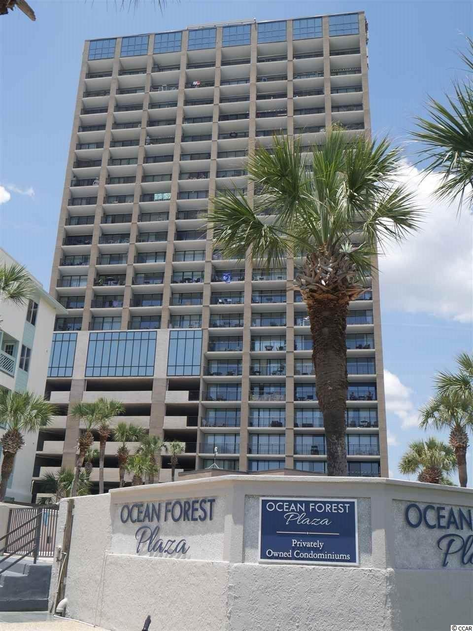 Enjoy the direct view of the Ocean & Beach from your private balcony on the 18th Floor. This upgraded, Oceanfront condo features a true 1 Bedroom floor plan  with full bath, kitchen/dining area and living room with sliders to a private balcony. Upgrades include:  Renovated Kitchen with full size appliances, Full size washer and dryer set in hallway closet, Bathroom with updated vanity and linen closet. This condo is ready to move in. Located in one of Myrtle Beach's most prestigious destinations - This building features wireless Internet access, owner's fitness, owner's laundry, owner's lounge, heated indoor pool, hot tub and outdoor pool. Pet friendly for owners. Interior electric included in home owners assoc fees. Walk across the street to the oceanfront walking trail and playground. Close to Shopping, Restaurants and attractions. Great as a 2nd home or investment property. Square footage is approximate and not guaranteed. Buyer is responsible for verification