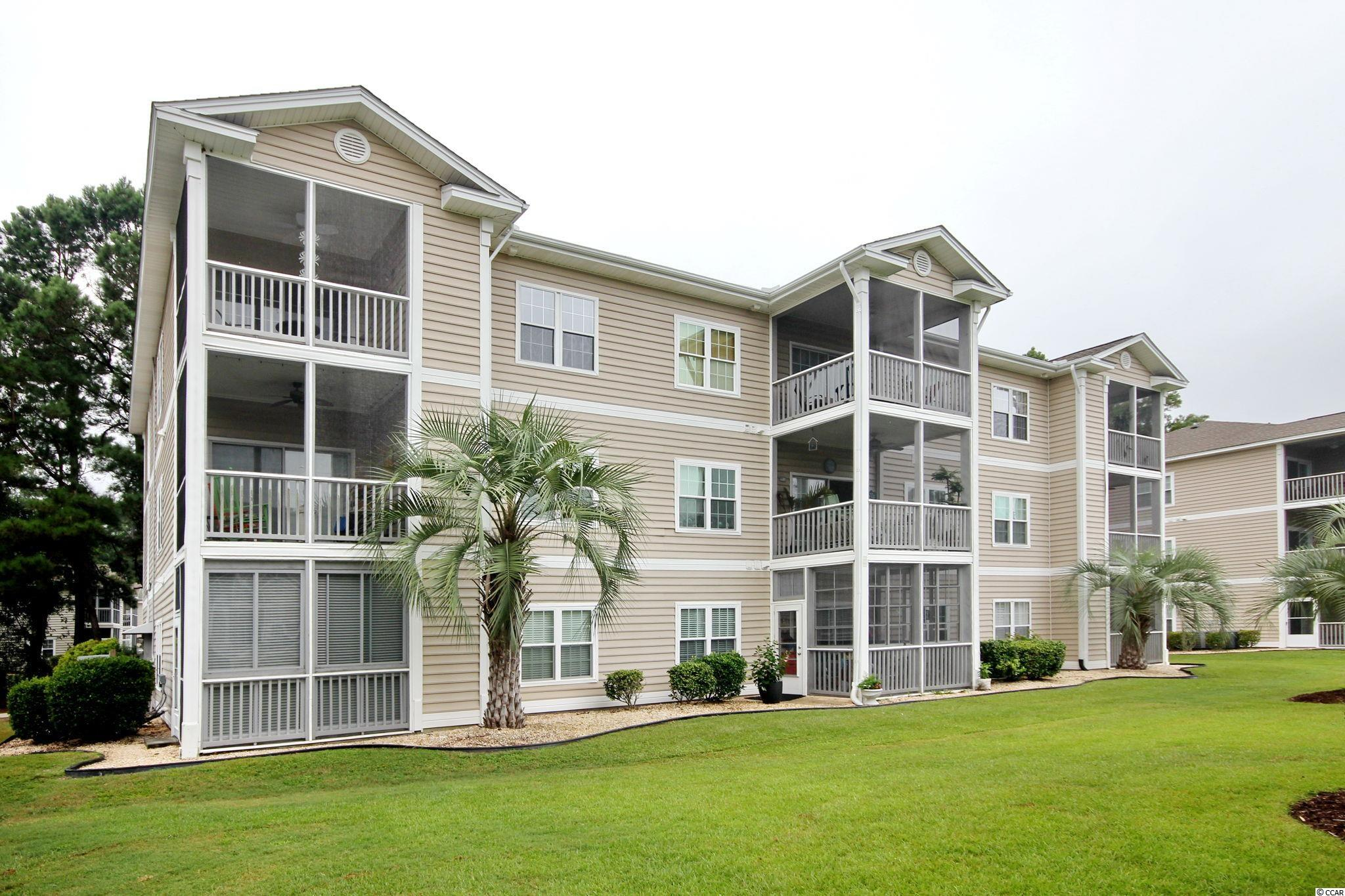 Top floor, end unit and furnished 2-bedroom condo in the desirable community of Sweetwater.  Plenty of natural light in this open floor plan with a large screened porch overlooking the courtyard and community pool.  2 bedrooms with 2 full baths and spacious kitchen with breakfast bar.  New kitchen flooring, new sliding glass door to the screened porch, new screens on the deck, repainted kitchen cabinets, new refrigerator and new AC compressor.  Easy access to Bypass 17, Garden City Connector and a short drive to the beach.