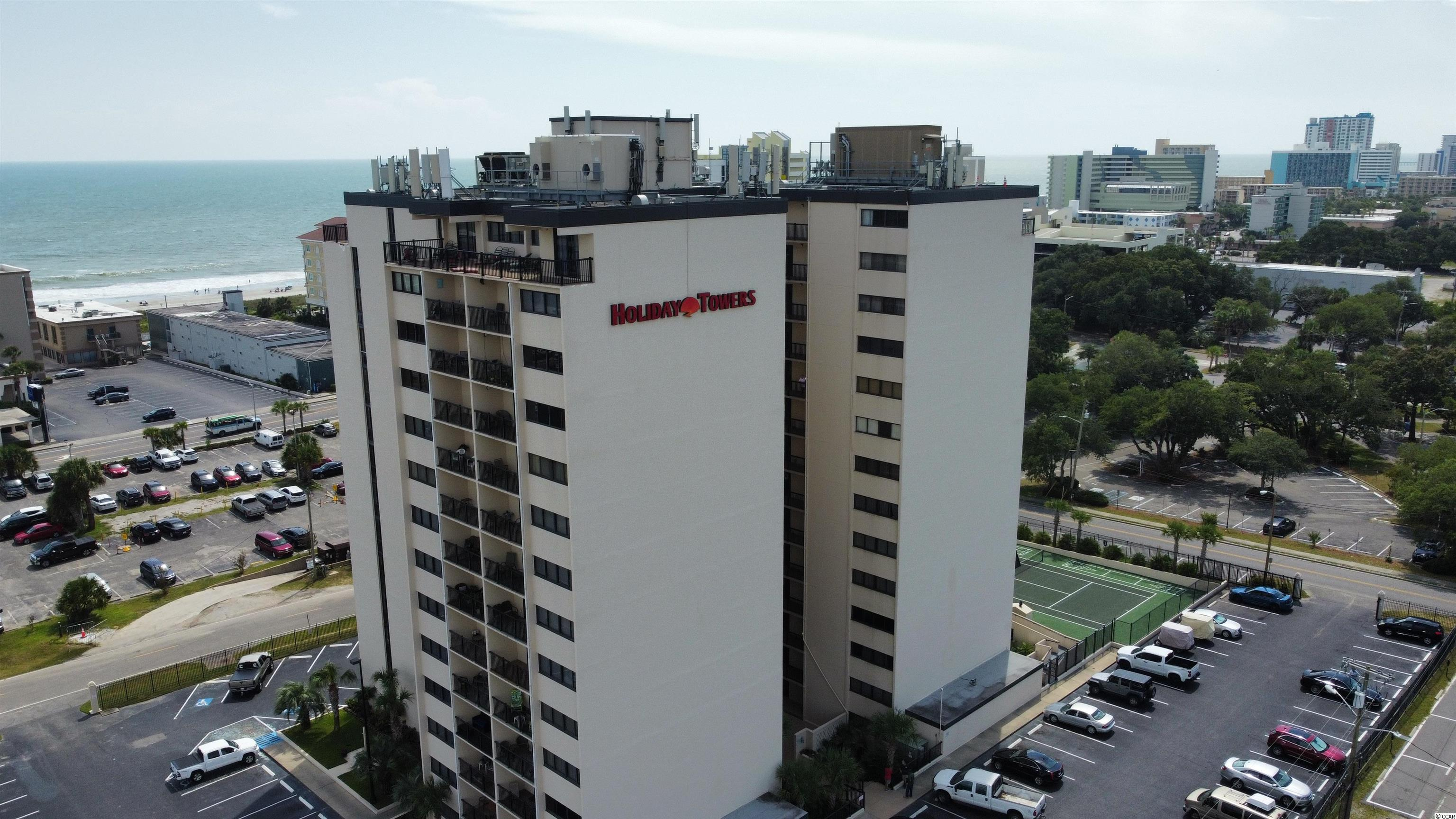 Welcome to Holiday Towers! Only steps to the beautiful ocean and located only minutes to downtown Myrtle Beach and all of the great attractions and shopping! This is a two-bedroom two-bathroom unit on the 6th floor. Step out onto your balcony and take in the views of the ocean, shopping, attractions, and amenities that Myrtle Beach has to offer. There are so many great features about this unit like a lockable owner's closet, Walk to the beach, Large storage/laundry room in the unit, Balcony, two full bathrooms and so much more! Come and make Holiday Towers your next home, investment, or 2nd home... The beach is waiting!