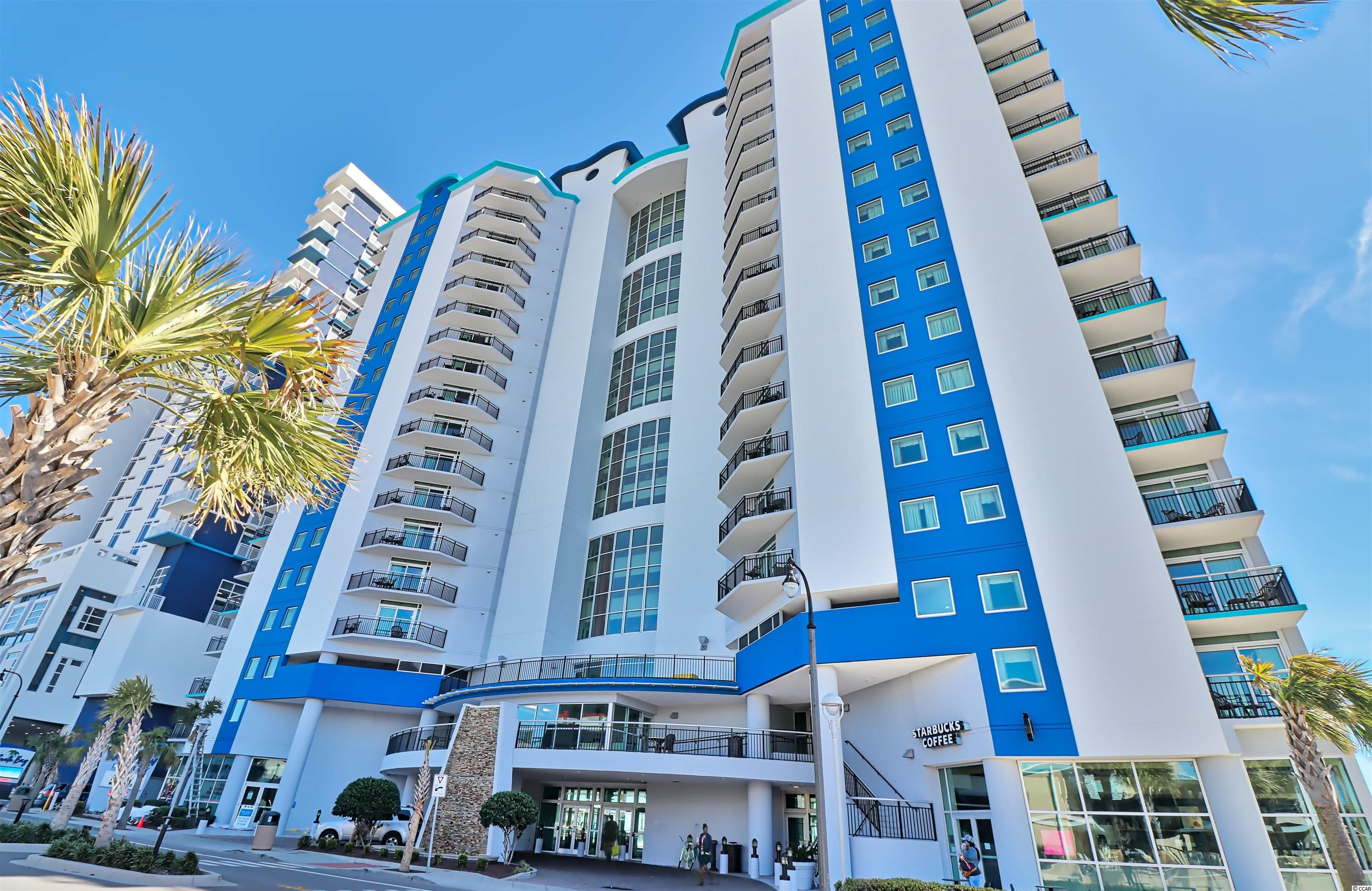 Welcome home to this unique 1 true bedroom, 1 full bath ocean view condo in the Bay View Resort in Myrtle Beach! Located in the heart of downtown Myrtle Beach, this is a great unit! This unit has been remodeled with new tile floors, new furniture, fresh paint, a stackable washer and dryer, and matching stainless steel appliances. This unit has the option of enjoying two separate balconies with an ocean view and view of Ocean Boulevard. This condo still performed during 2020 and has great numbers for 2021! This floorplan is literally two of a kind and is a very practical floorplan. The amenities of Bay View include the ON SITE full Starbucks, multiple water features including the swimming pool, indoor lazy river, kiddie pools and splash zone as well as relaxing hot tubs. Bay View Resort is directly on the boardwalk so the convenience is unparalleled! Looking South you can see the pier and enjoy the fireworks depending on the time of the year! The possibilities with this unit could include it being your new home, beach home, investment or rental opportunity, OR, a mixture of all the above!  Schedule your showing today.