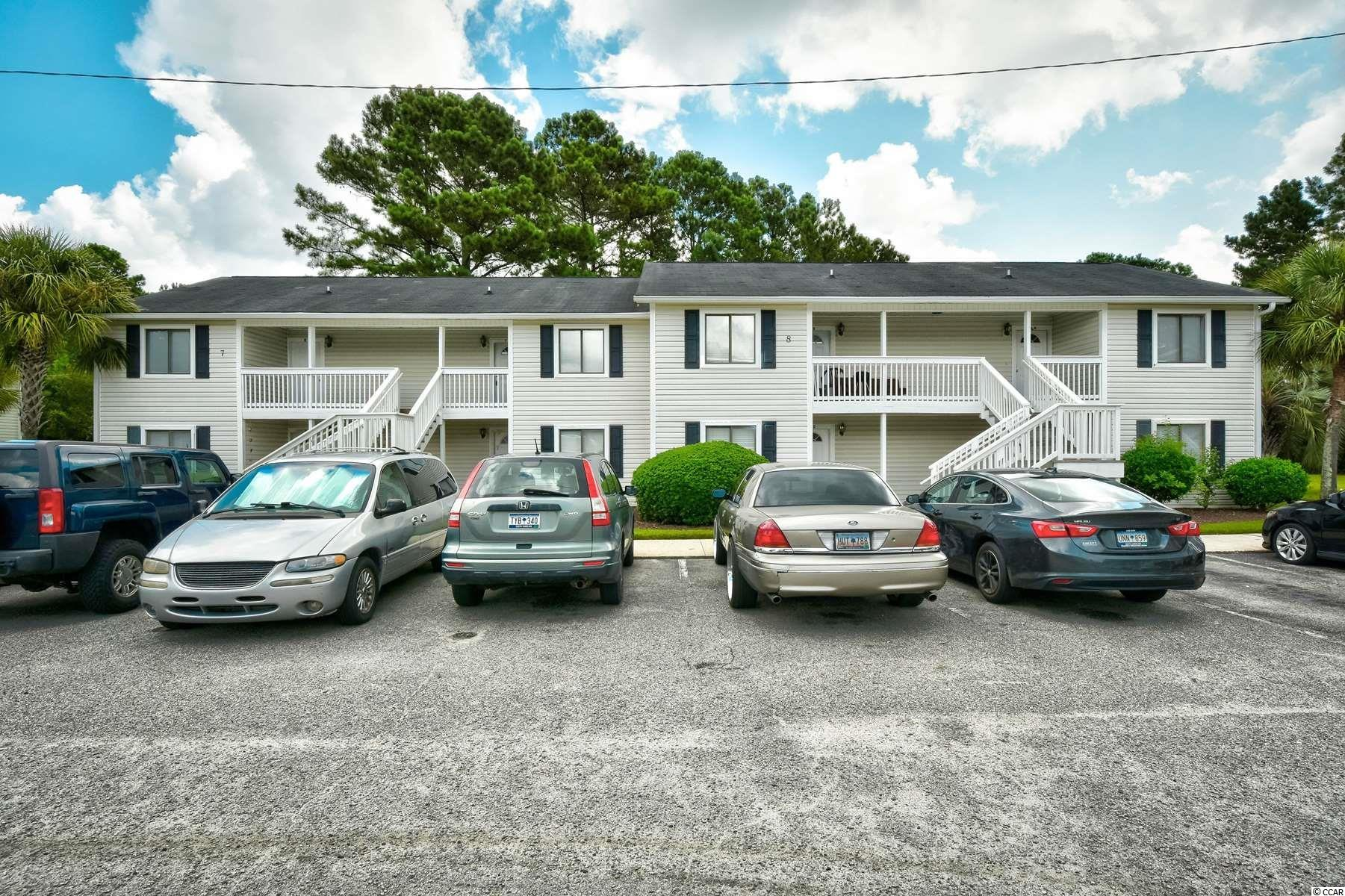 Don't miss this opportunity to own this 2 bedroom 2 bathroom first floor unit located in Coastal Villas, just walking distance to HGTC and Coastal Carolina University! This condo includes a kitchen equipped with all appliances, plenty of cabinets and counter space, and a breakfast bar. Each bedroom offers a ceiling fan, plenty of closet space, and easy access to its own bathroom.  Coastal Villas amenities include an outdoor pool and an onsite laundromat. Only minutes to downtown Conway and the Riverwalk, near shopping, dining, golf, and less than 12 miles from the beach. Schedule your showing today!