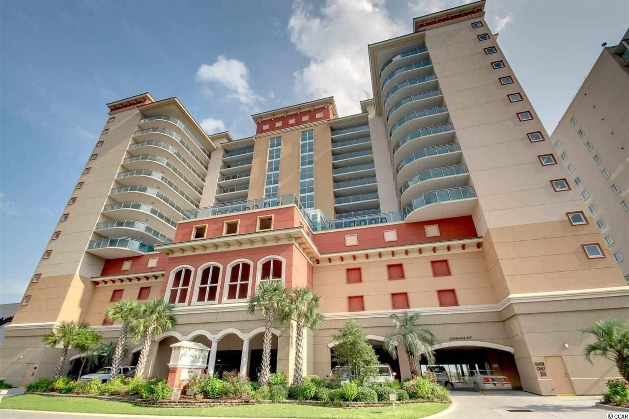 5th floor Oceanfront 3 bedroom, 3 Bathroom unit in Bahama Sands in the Crescent Beach section of North Myrtle Beach. Incredible views from the living room and master bedroom. Both open onto a large oceanfront balcony. The building features an oceanfront pool, kiddie pool, lazy river and hot tub. There's an indoor pool on the 5th floor deck. There's also a fitness room. The parking garage is conveniently located on the bottom floors of the building - no crossing the street! Crescent Beach is known for its quiet family atmosphere but it's close to many attractions. About a mile to the north is Main Street in Ocean Drive, a hub of activity for dining, nightlife and festivals. The huge Barefoot Landing entertainment complex - packed with restaurants, shops and live entertainment, is only about 2 miles away.