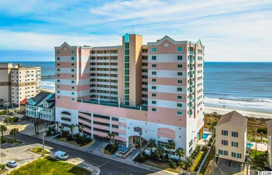 *DIRECT OCEANFRONT 2 bedroom/2 bathroom beautiful PENTHOUSE condo* Truly a breathtaking gem, this condo is one-of-a-kind in pristine condition and loaded with features only found here at the fabulous Laguna Keys in the Cherry Grove section of North Myrtle Beach. Starting with private parking garage access on the 5th floor AND a personal 8' x 4.5' storage unit on the 5th floor to store your beach chairs & all.. this ocean front condo is unlike all the others. This unit features a split bedroom plan with an open concept layout throughout. The FULLY equipped kitchen with breakfast bar features granite countertops, porcelain tile, brand new stainless steel refrigerator w/recessed lighting, farmhouse style sink with views straight out to the Atlantic. With two full bedrooms and two full bathrooms, a jetted tub in the master bath, stand up shower with bench in first bathroom, washer/dryer IN UNIT, & breathtaking direct oceanfront views right from your own very large balcony- this one has it all. Both the living room and the huge master bedroom equipped with a sitting area, have floor to ceiling views and access to the ocean front balcony & BOTH equipped with light filtering remote controlled shades. Laguna Keys is in the heart of Cherry Grove and has wonderful amenities to include: large exercise facility with views of the Atlantic Ocean, indoor/outdoor pools, kiddie pool, lazy river, & spa/hot tub. Schedule your showing today!