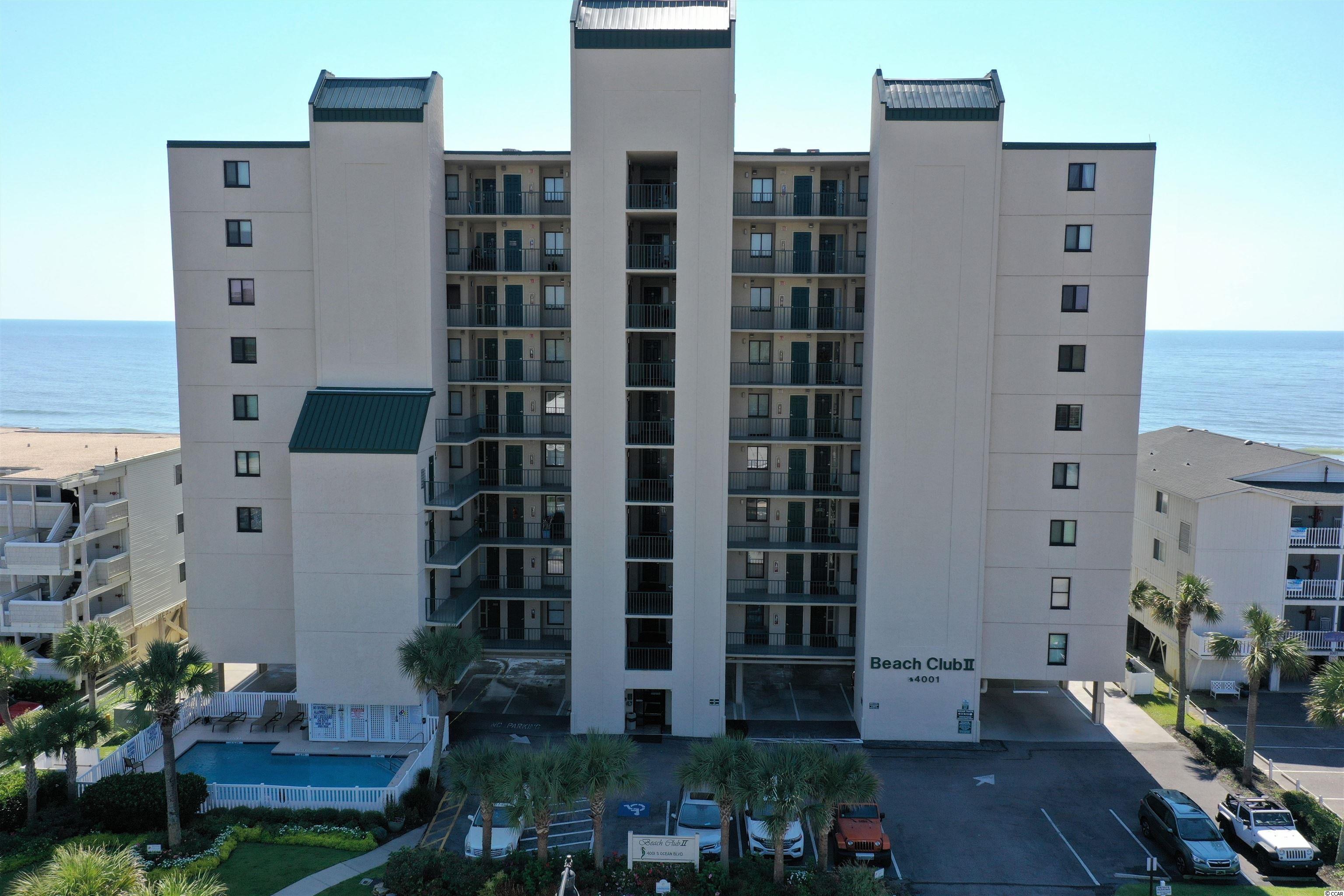 Now available on the 4th floor of Beach Club ll, very spacious direct oceanfront 3BR/3BA condo located in the Windy Hill section of North Myrtle Beach. Sip your morning coffee, and watch the dolphins swim by on the Huge 28'  balcony with access from the living room and the master bedroom that boast impressive views of the Atlantic Ocean. Open floor plan that flows well from kitchen to dinning area to living area. UNIT HAS NEW COUCH and CONSOLE Smaller building with only 45 units.-  2 Pools, deck area and BBQ area & covered parking.  Close to Barefoot Landing, golf courses, miniature golf, restaurants, shows, Main Street, lots of shopping, and all the Grand Strand has to offer. Or just relax at Beach Club II on the oceanfront.