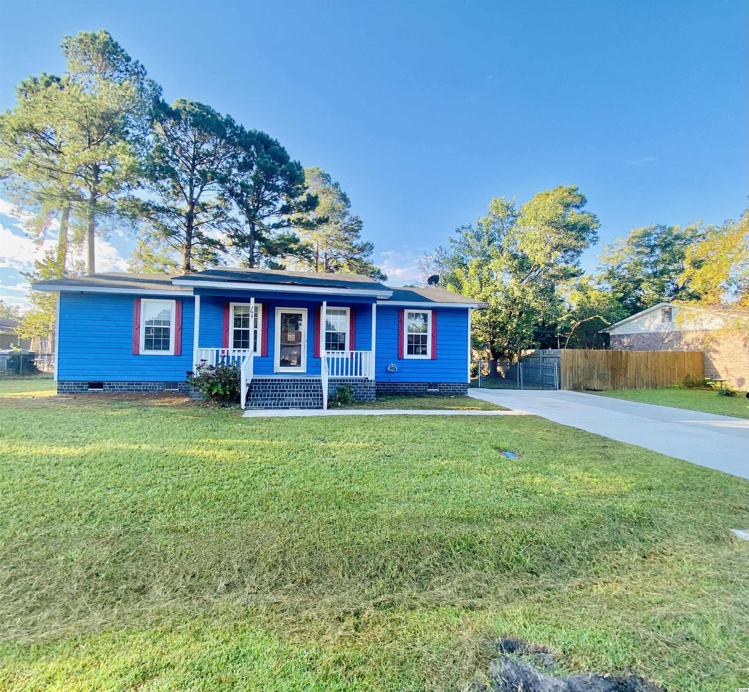 Located in the University Forest area of Conway, this home and land has tons of potential. With 3 bedrooms, 1.5 baths, an open floor plan for the kitchen, dining and living spaces as well as a laundry room and outdoor storage closet, all this home needs is some TLC and vision. This home would be perfect for an investor or someone looking for a great deal who would enjoy renovating to their taste! There are so many options for the large fenced backyard as well.  This home is being sold AS IS. There is no HOA, park your boats, campers, etc. Located in the Carolina Forest H.S. district, this home is situated close to CCU, HGTC, downtown Conway, shopping, dining, health care and, of course, a short drive to the beach. Don't miss out on this one!
