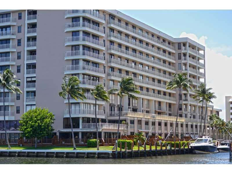 Exceptional building with spectacular views of the Intracoastal, canal and ocean. Very spacious living area (1,769 SQ FT) with large bedrooms and living area. Community pool, BBQ, two master suites. A/C is one year old. Full mirrored wall gives endless vi ews of the water and the city. This is truly a spacious unit. Bring your boat. Dockage $3.50 per linear foot. Bring your pets (2 allowed). New lobby and new gym. Security guard at the door. BBQ in the manicured picnic area, swim in the pool next to ICW.