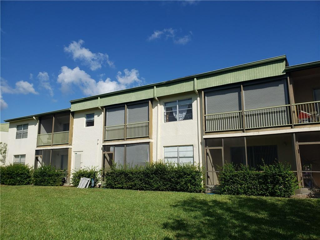 ALL AGES COMMUNITY! This 2nd floor 2/2 condo features; Washer/dryer, 2018 water heater, 2008 A/C, updated eat in kitchen with refaced cabinets, newer Stainless Steel appliances & pantry. Laminate floors in Master, walk in closets, updated master bathroom, carpet in living/dining room & guest bedroom and (2) screened-in balcony with rollup shutters. Plenty of natural light - Maintenance includes basic cable, water, trash, roof, building exterior, lawn, common areas and community pool. PER ASSN. 640 minimum credit required, NO leasing first year owned & NO pets. NO Reserves, 25% down. Well kept and clean.