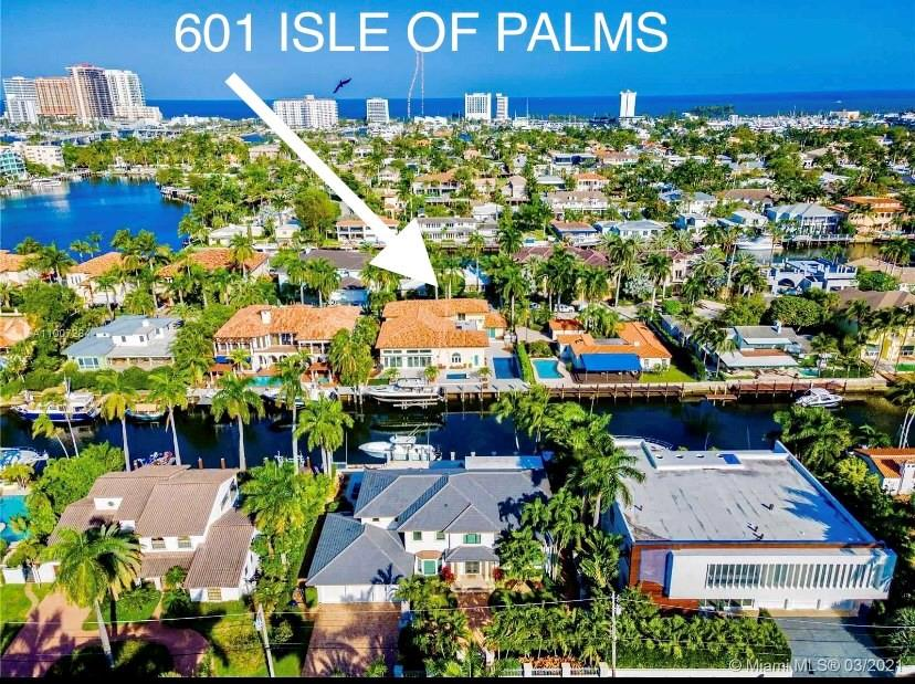 """SPECTACULAR & ELEGANT LOCATED ON ONE OF LAS OLAS MOST DESIRED STREETS. MAJOR REMODEL: NEW IMPACT WINDOWS & DOORS, ROOF & GUTTERS, POOL SURFACE, NEW CONCRETE DOCK & SEAWALL, BOAT LIFT. DRIVEWAY PAVERS & LANDSCAPING, POOL HEATER, AC, OUTSIDE LIGHTING FIXTURES, 100' WF DEEPWATER, QUICK OCEAN ACCESS. UNDER-GROUNDING OF UTILITIES HAS STARTED. OVERSIZED LOT 100'x 130'. VOLUME CEILINGS, 6 BEDROOMS, BAR & BILLIARDS ROOM, HOME THEATER, 1ST FLOOR MASTER SUITE OPENS TO POOL & JACUZZI. CIRCULAR DRIVEWAY, 3 BAY GARAGE WITH HEIGHT FOR LIFTS FOR 3 CARS. GOURMET KITCHEN. GAS OVEN & COOKTOP. ISLAND BAR. WALK TO BEACH & LAS OLAS SHOPS & RESTAURANTS. PROFESSIONAL PHOTOS COMING AS SOON AS INTERIOR PAINTING COMPLETED. SF INCLUDES GARAGE AREA. """"YEAR BUILT"""" is year of major remodel"""