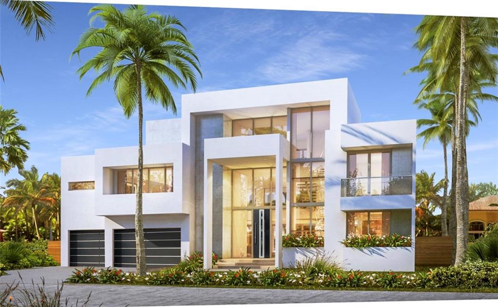 New construction ultra modern home in Fort Lauderdale's desirable Las Olas Isles. This 3 story home features top of the line finishes and an open floor plan. All en-suite bedrooms, walk in closets, and an elevator. Other features include floating drywall, zero-trim doors, silver leaf accents in the bathrooms, Miele appliances, and Schuco windows and doors. 3rd floor has amazing sunset views over downtown. 100' deep water frontage, ocean access, no fixed bridges, and located with in walking distance to shopping & fine dining. Close to beaches and Fort Lauderdale/Hollywood Int. airport. Still time to customize. All measurements and information provided is believed to be accurate. Please check with property appraiser to confirm measurements.