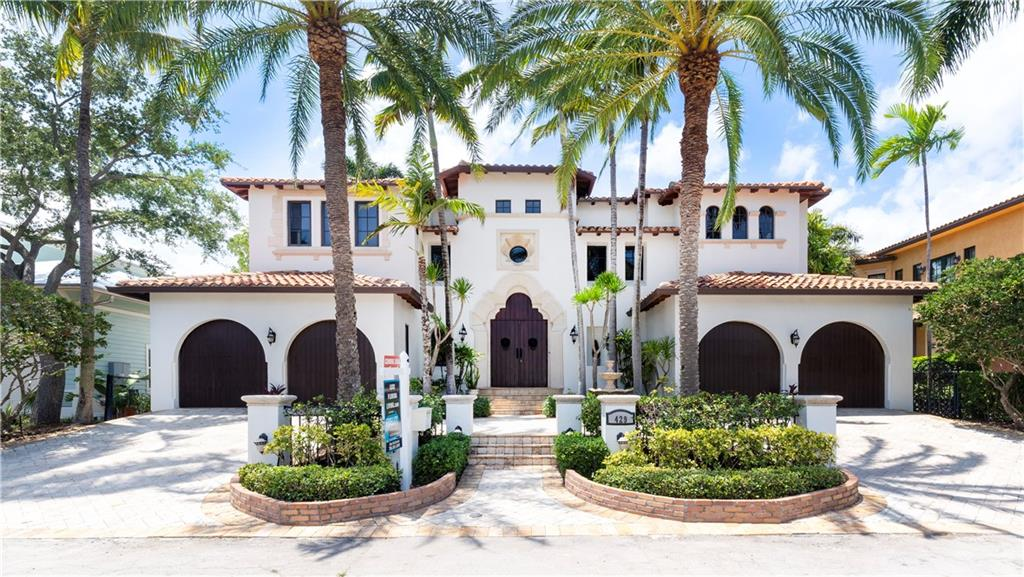 Brand new seawall and concrete dock! Exquisite tuscan style home - A must see! Spacious and grand with breathtaking Waterview, entry into marble and wood grand foyer with elegant curving staircase. Gas stove and appliances by Sub Zero. Immediate water views as soon as your enter. Master suite encompasses entire side of the house with waterfront balcony, custom his and her closets, a separate sitting area with beverage bar. Huge master bath with generous separate wash areas, vanity, separate WC and 2 entrances to shower which spans width of bathroom. Elegant catwalk for a royal touch. Whole house water filtration system and generator. Disclaimer: All information provided is deemed reliable, but is not guaranteed and should be independently verified.