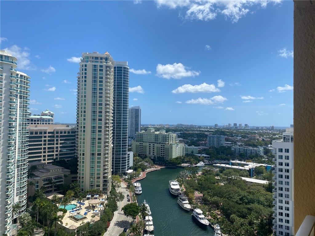 Gorgeous high floor unit. First time on the market. Sit on the balcony with your feet up overlooking water and boats passing by. Downtown living with a feel of sanctuary. Parks, water trolley, river walk right in front of the building. A few steps to Las Olas, restaurants and entertainment. Fully equipped gym with cardio and weights, basketball court, racket ball court, sauna & spa, roof top pool overlooking the city & ocean with 360 views. Easy showing and communication.